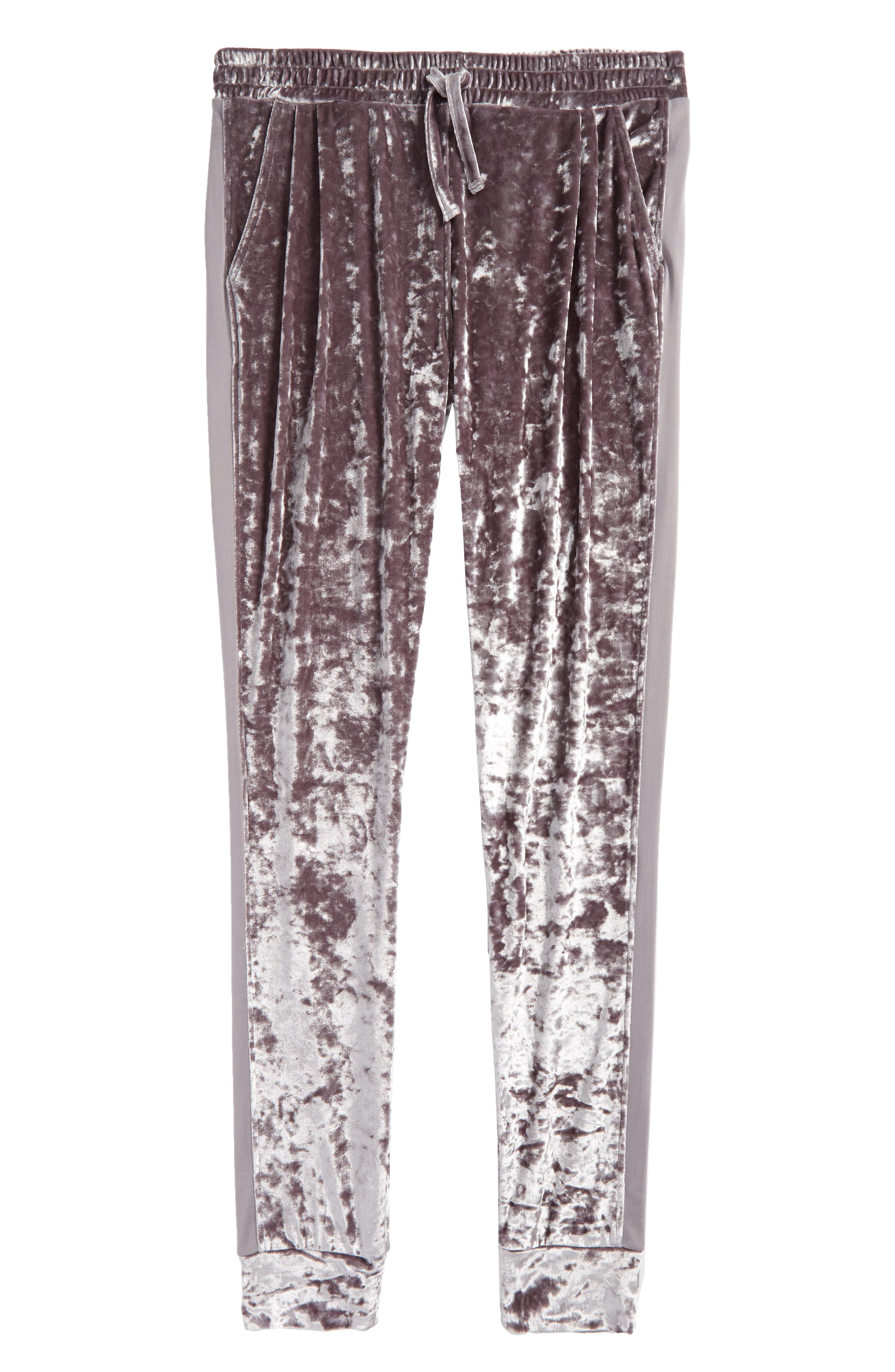Alternate Image 1 Selected - Treasure & Bond Velour Jogger Pants (Big Girls)