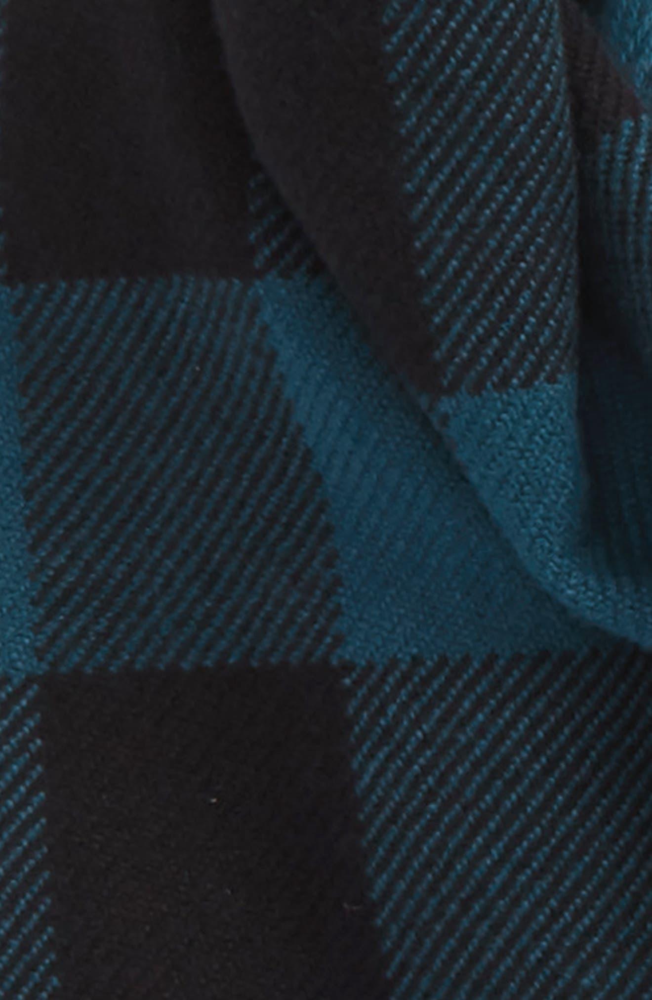 Half Mega Fashion Wool Fringe Scarf,                             Alternate thumbnail 3, color,                             Steel Blue