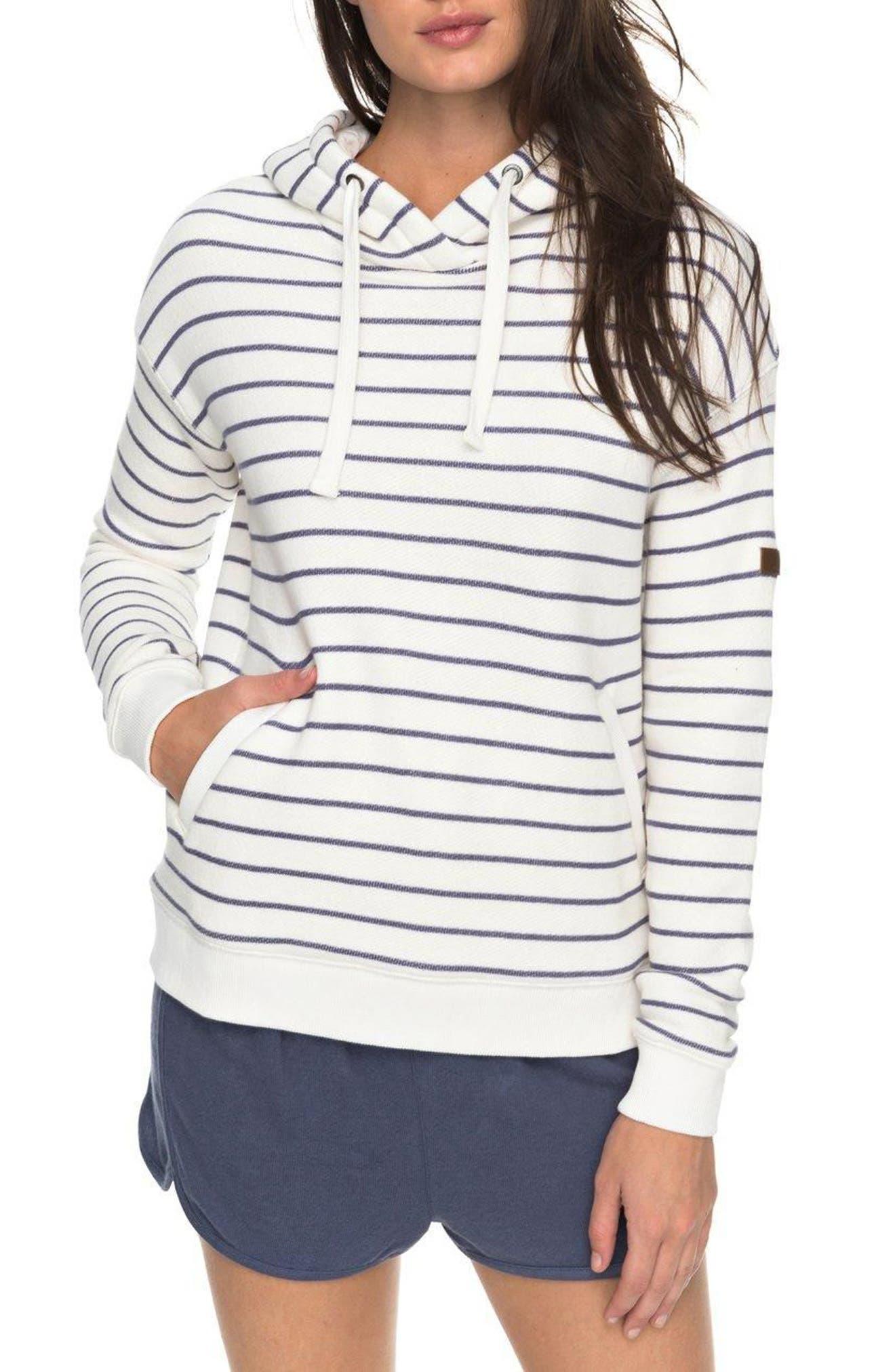 Alternate Image 1 Selected - Roxy Shoal Stripe Hoodie