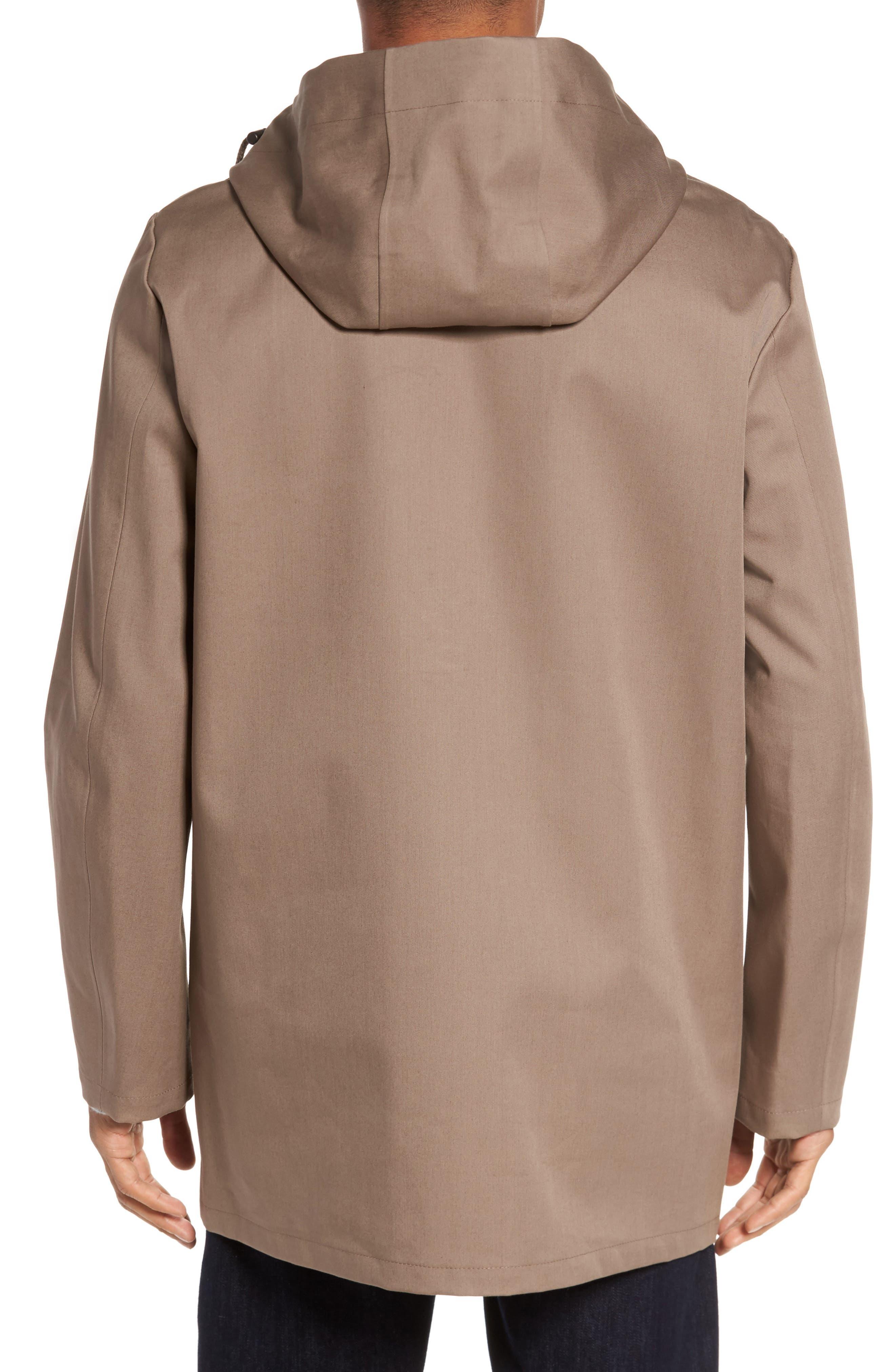 Stockholm Bonded Waterproof Hooded Raincoat,                             Alternate thumbnail 2, color,                             Mole