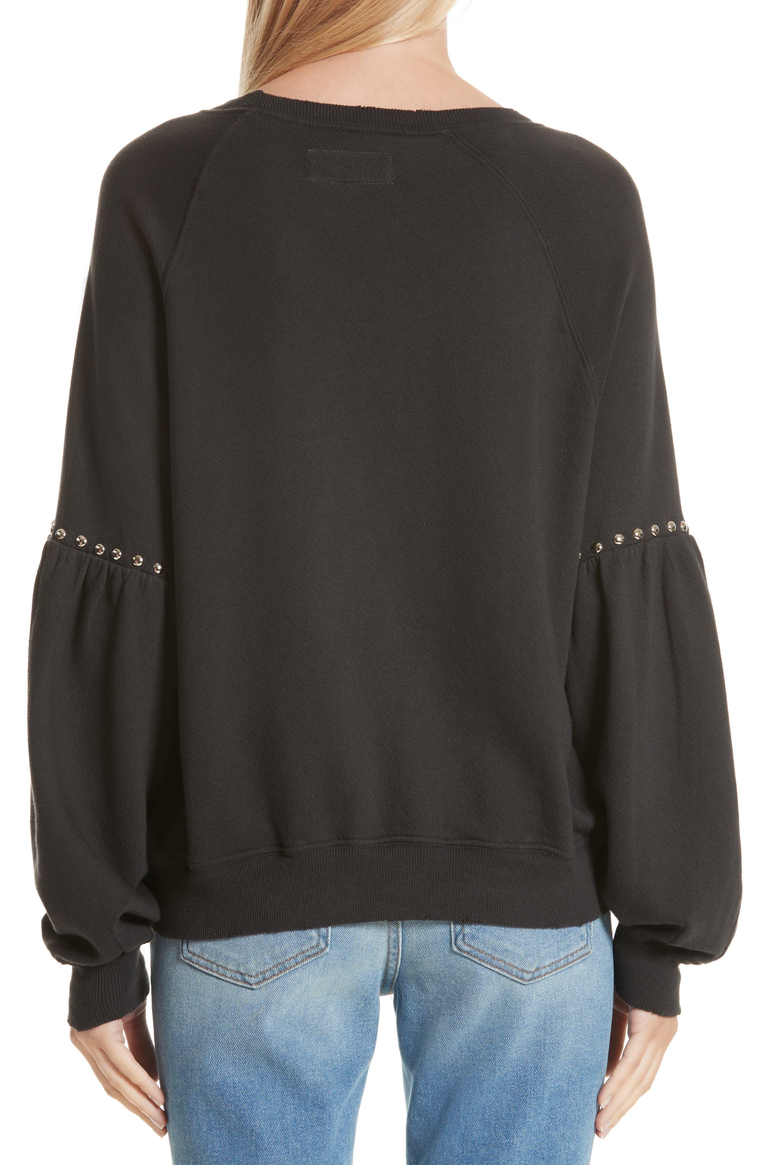 Alternate Image 2  - THE GREAT. The Bishop Sleeve Studded Sweatshirt