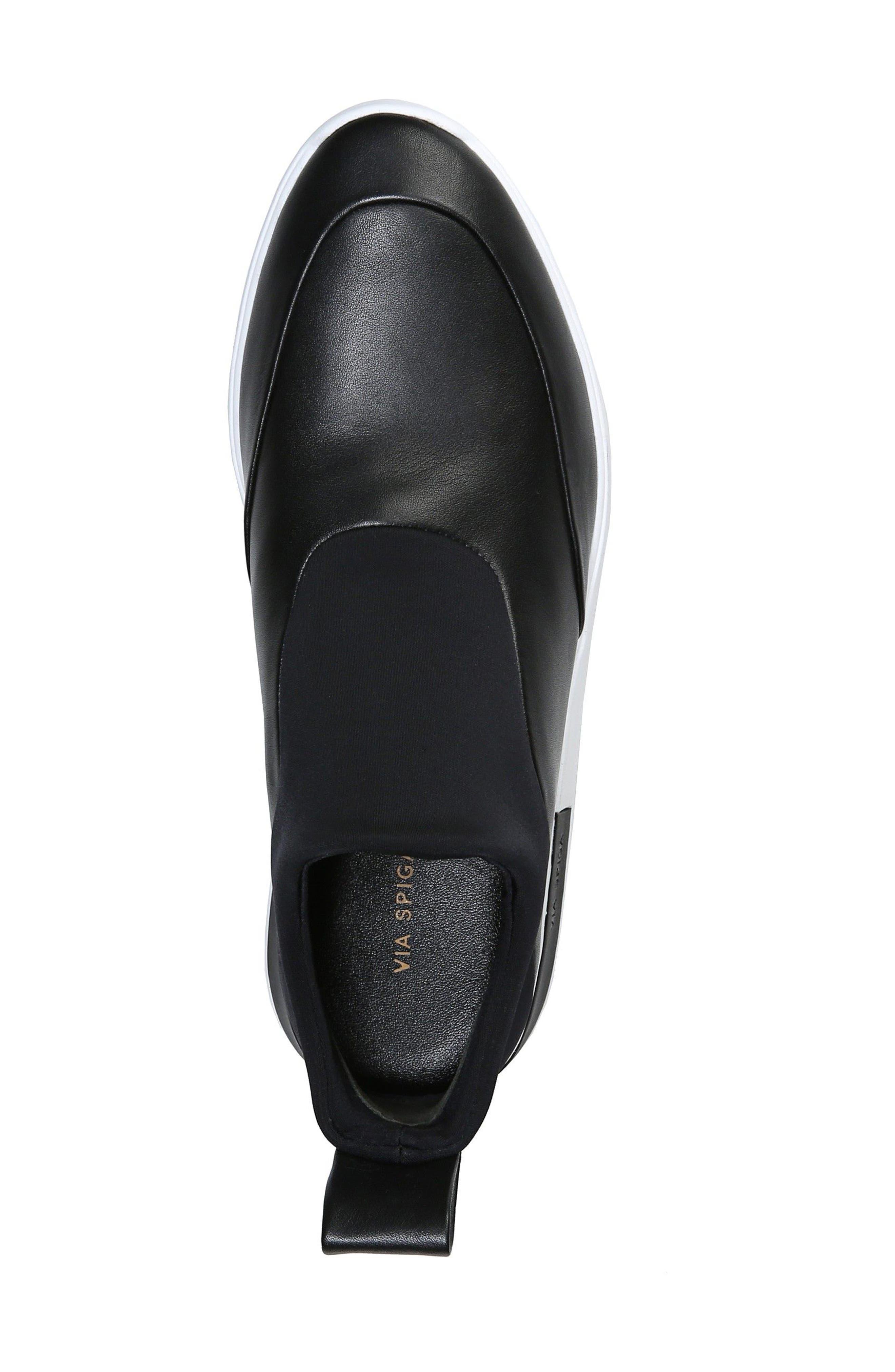 Mercer Slip-On Sneaker,                             Alternate thumbnail 5, color,                             Black Leather
