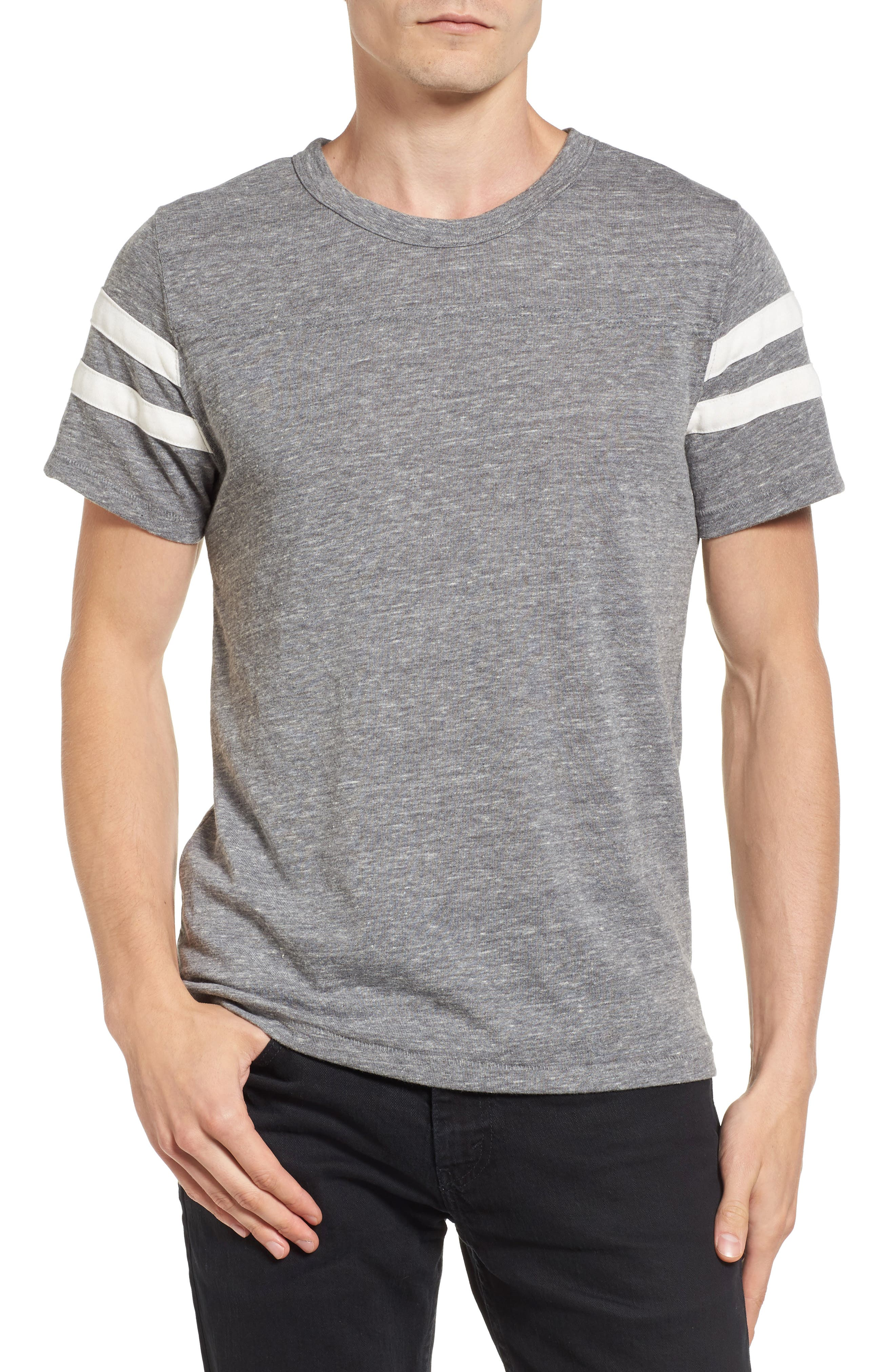 Football T-Shirt,                         Main,                         color, Eco Grey/ Eco Ivory