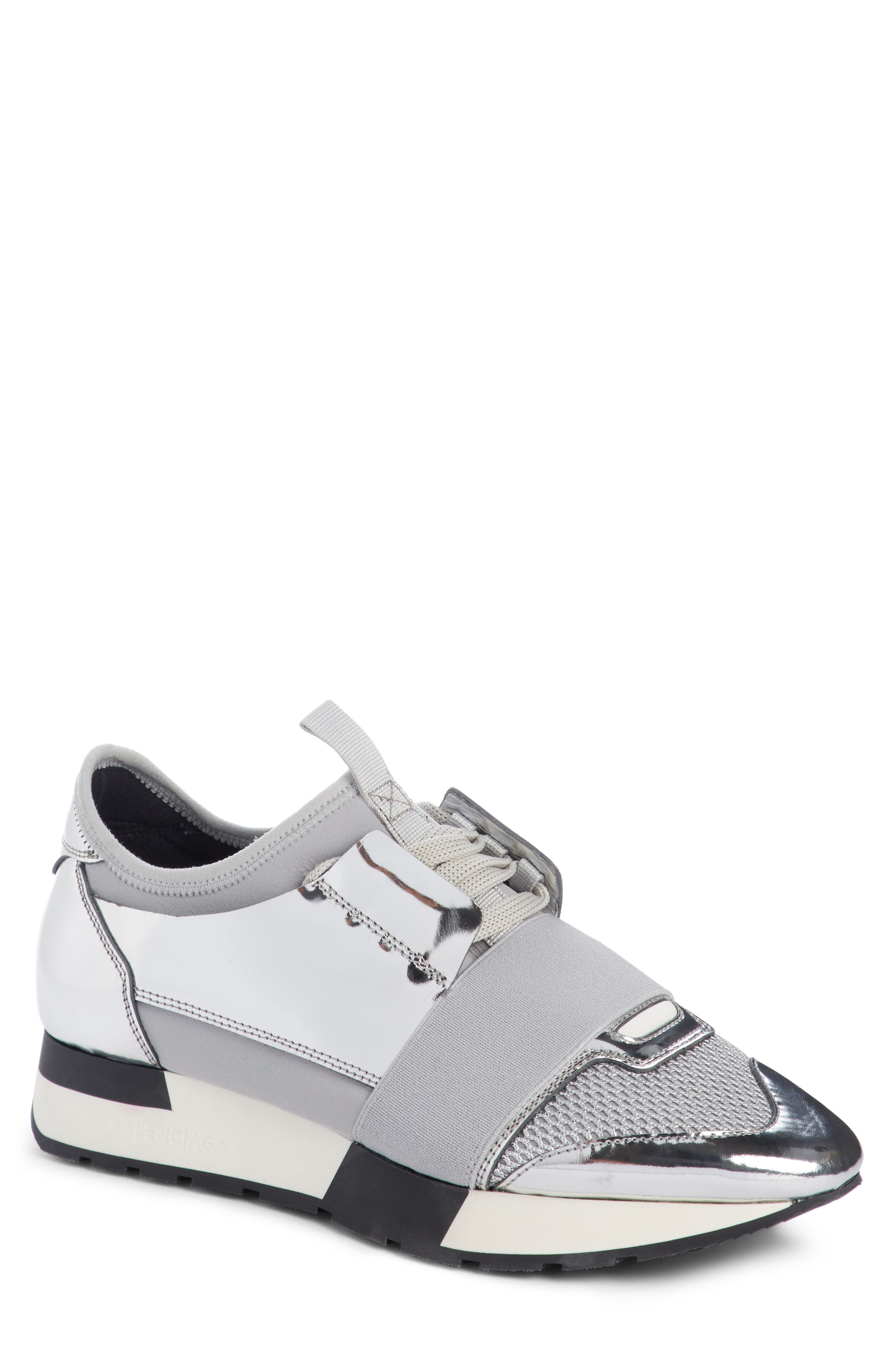 Lace-Up Sneaker,                         Main,                         color, Silver