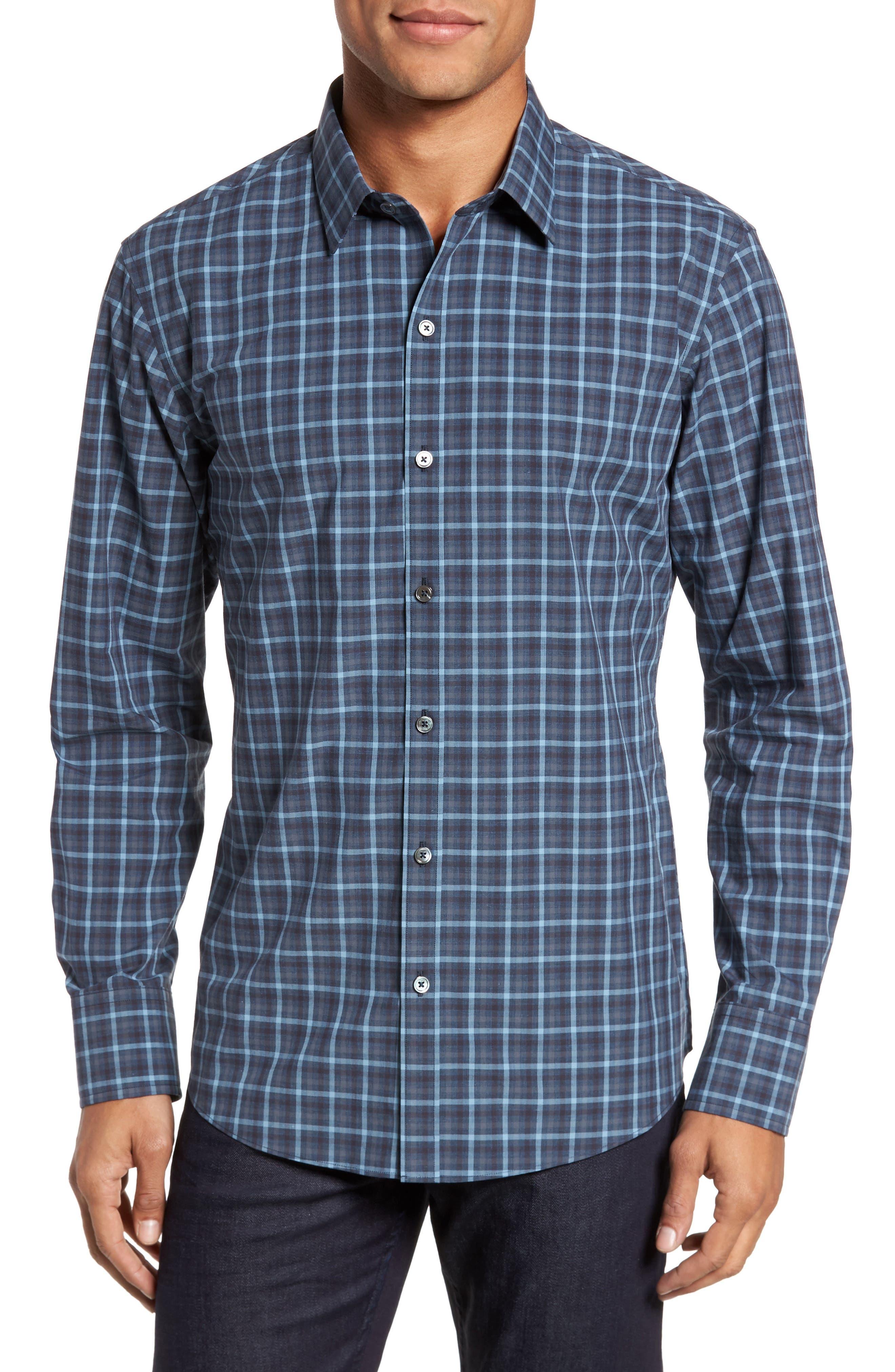 Lozado Check Sport Shirt,                         Main,                         color, Blue