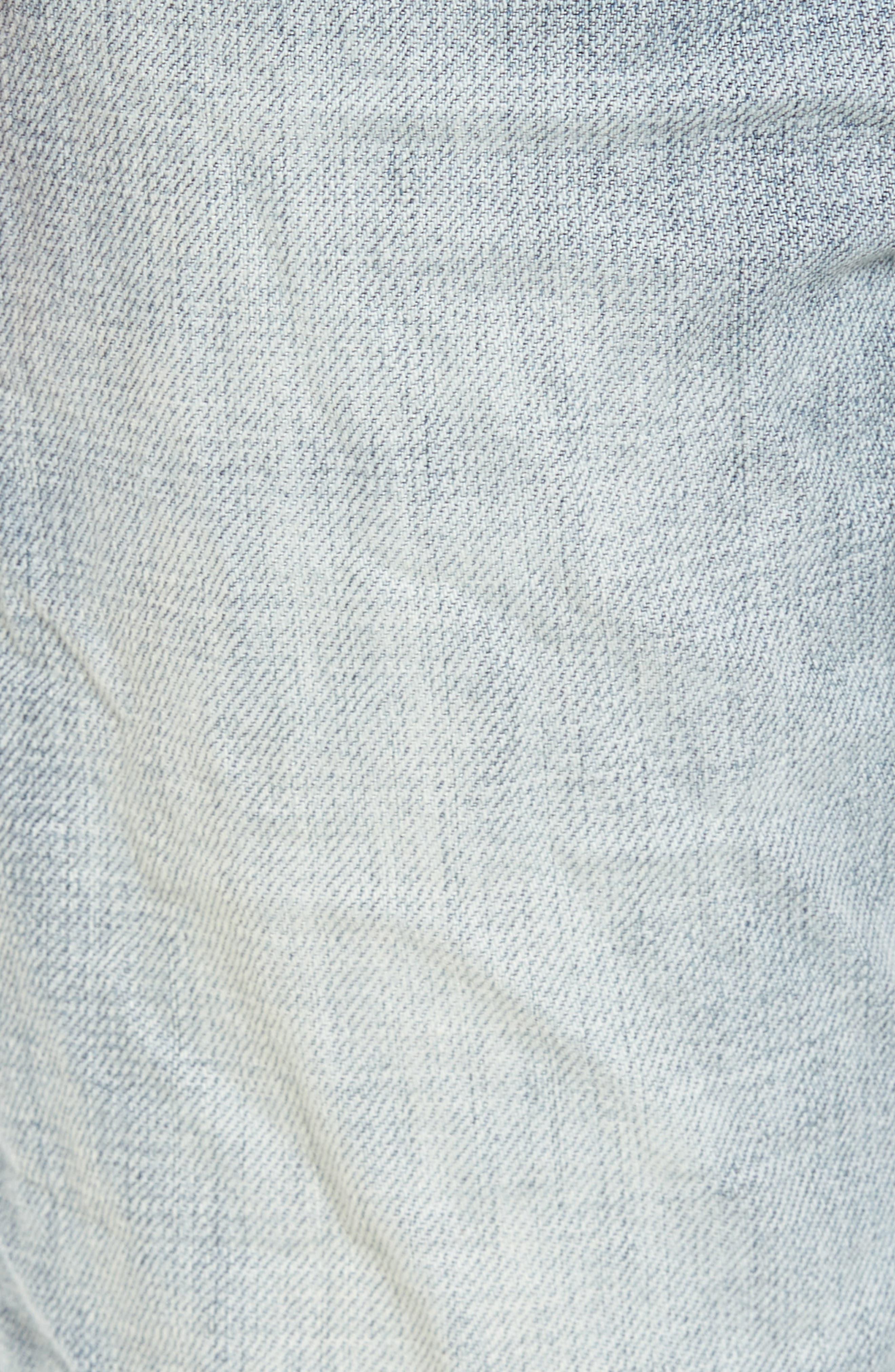 B.Line Crop Slim Fit Jeans,                             Alternate thumbnail 5, color,                             90S Stonewash