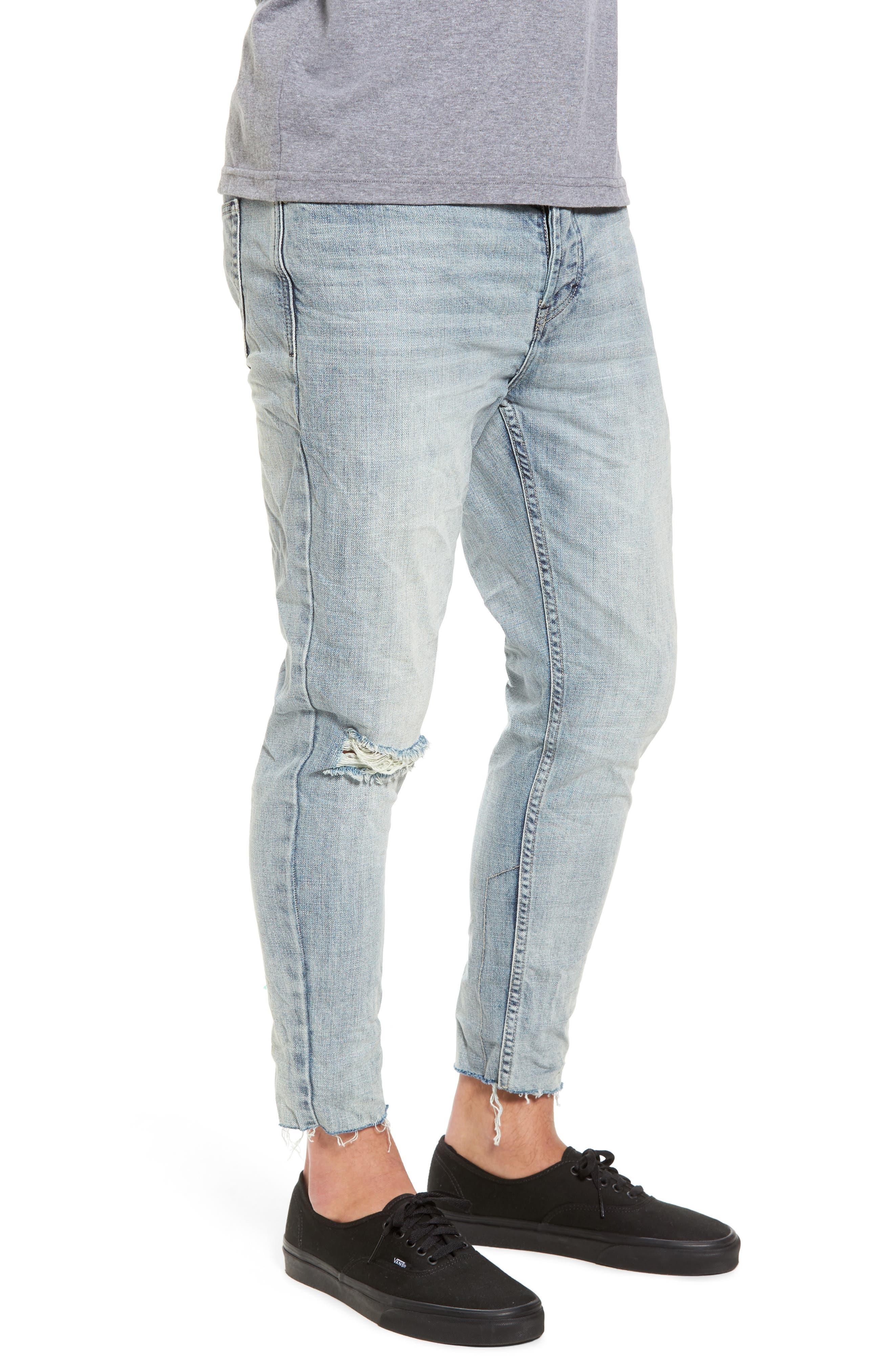 B.Line Crop Slim Fit Jeans,                             Alternate thumbnail 3, color,                             90S Stonewash