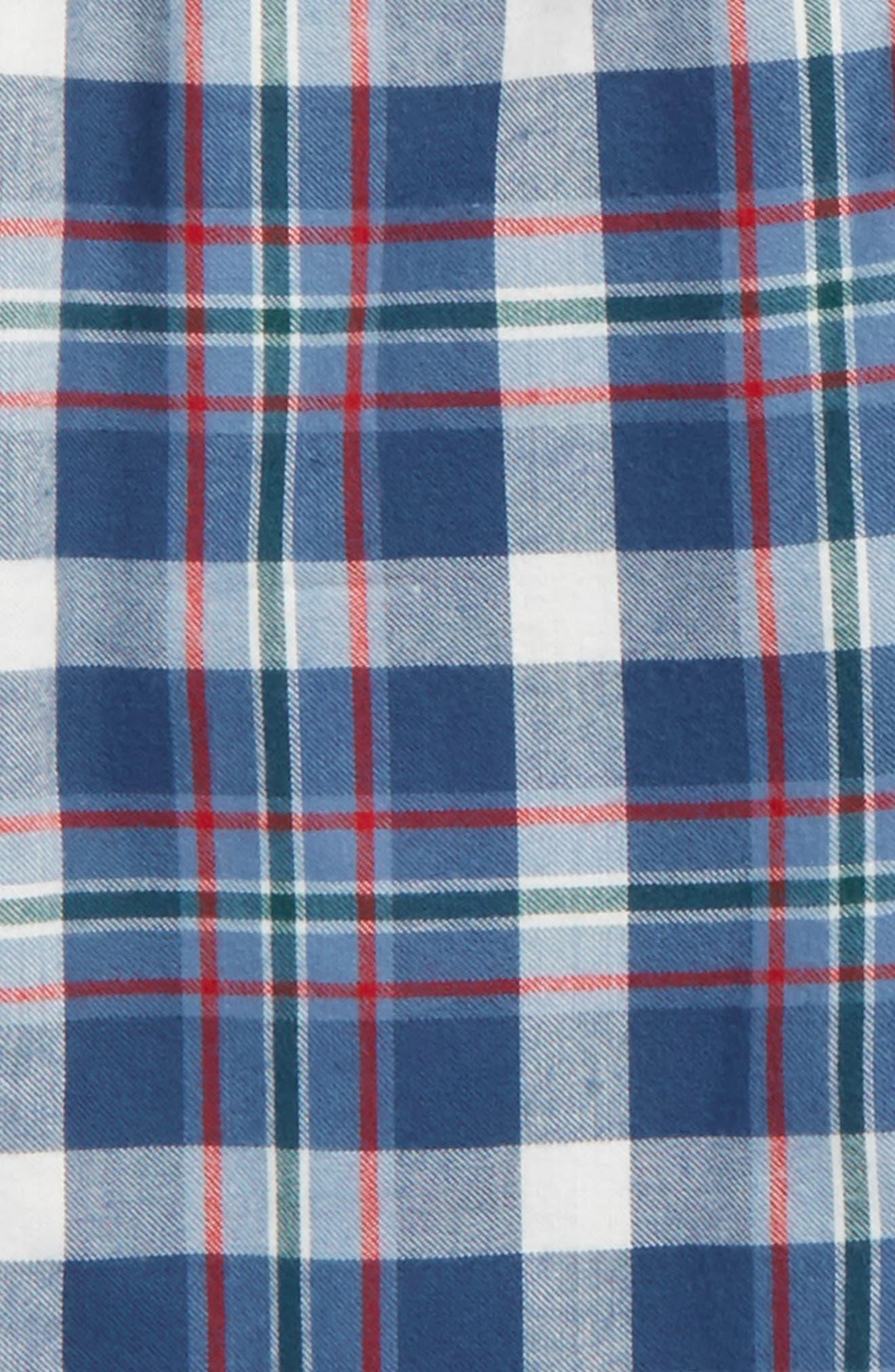 Flannel Jogger Pants,                             Alternate thumbnail 2, color,                             Navy Denim- Blue