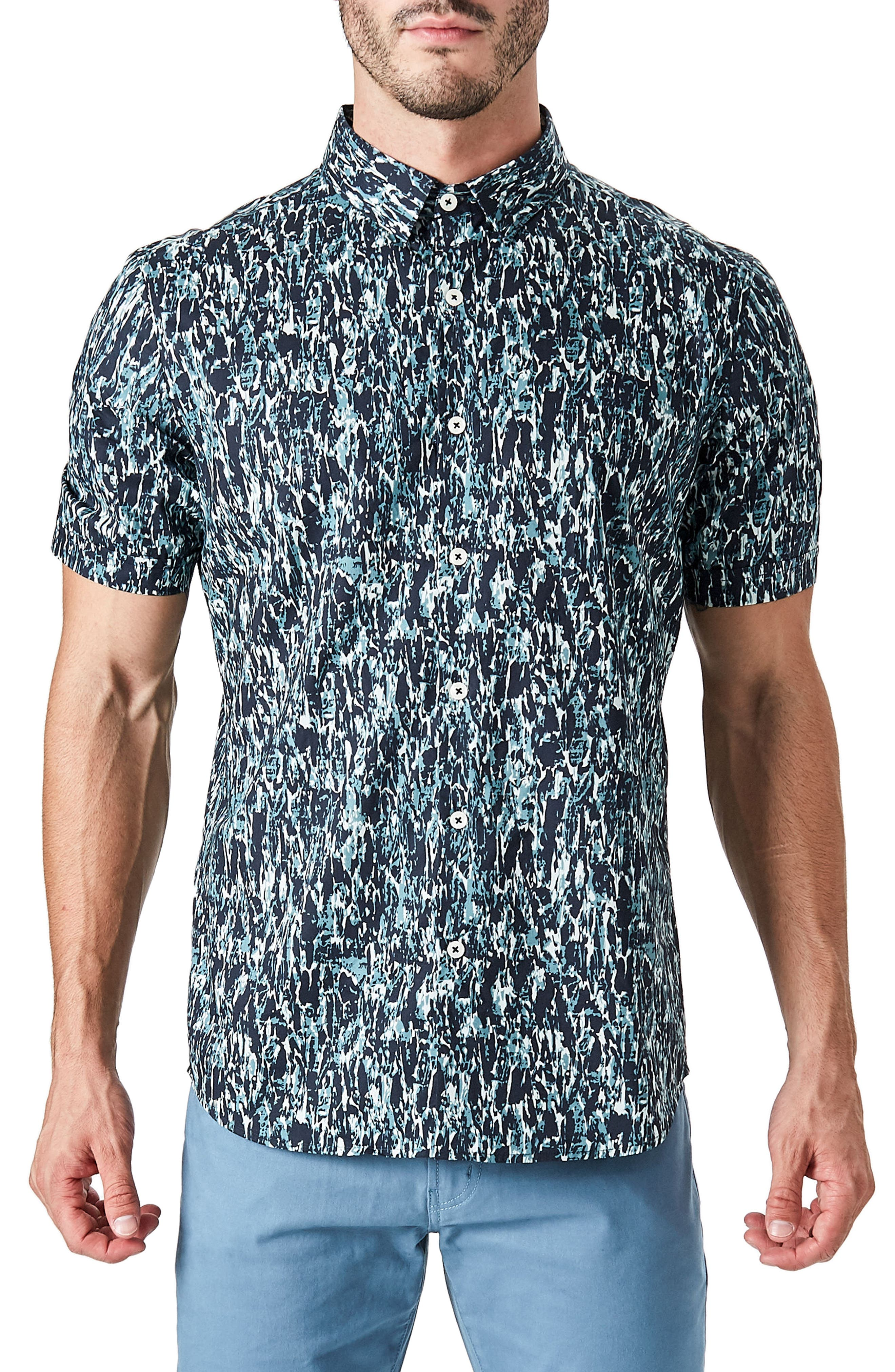 Universal Sound Woven Shirt,                             Main thumbnail 1, color,                             Midnight G