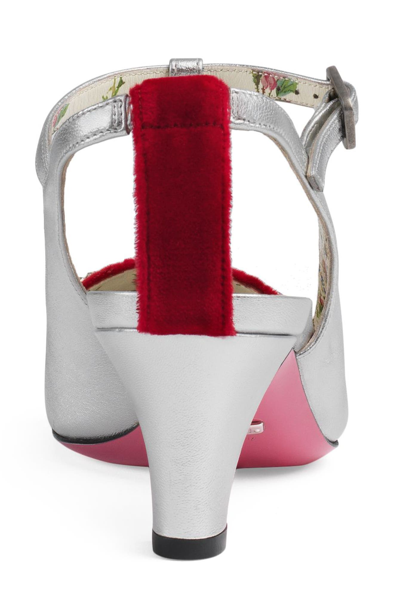 Alternate Image 4  - Gucci Anita Crystal Bow T-Strap Pump (Women)
