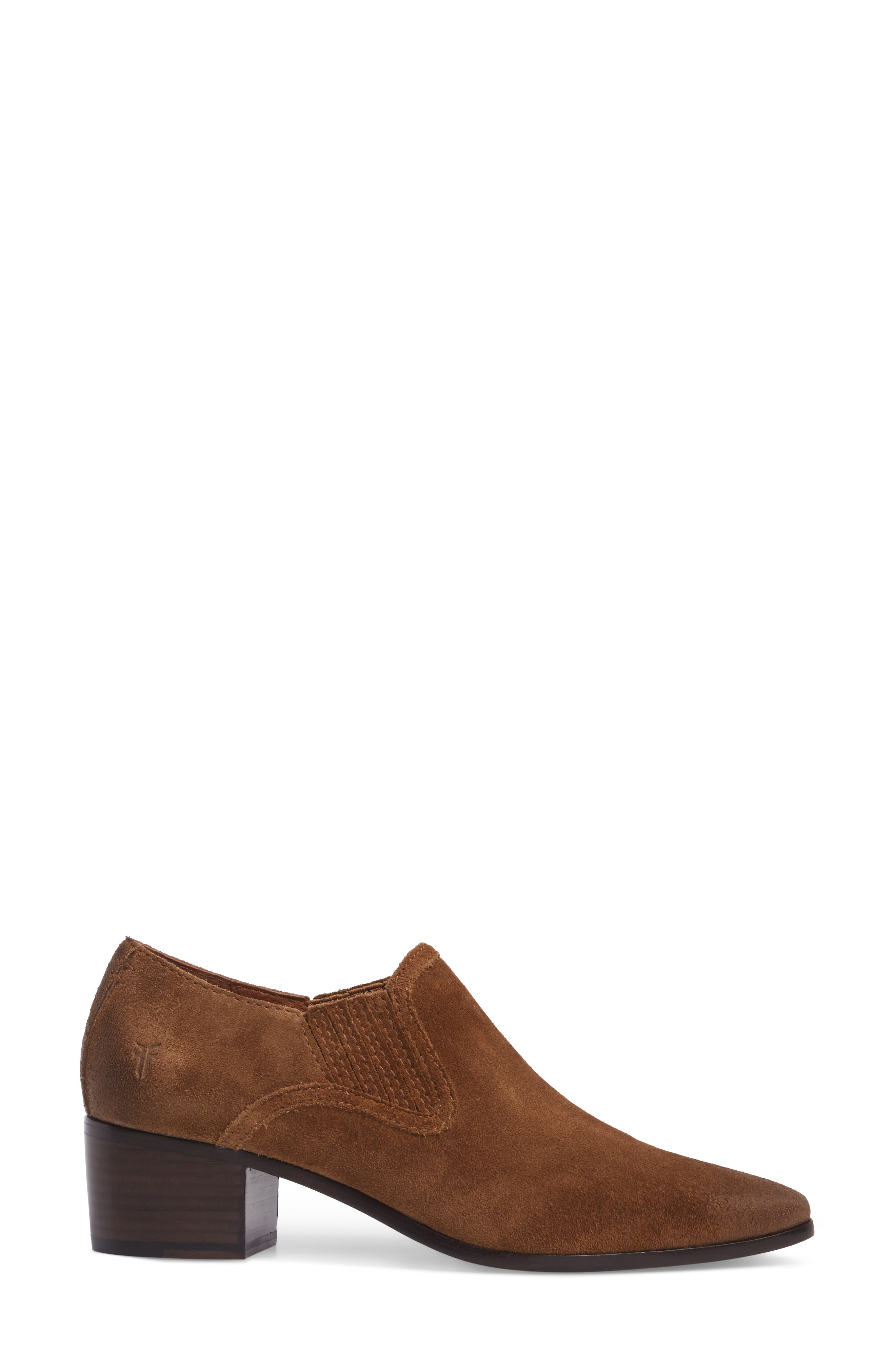 Eleanor Pointy Toe Bootie,                             Alternate thumbnail 3, color,                             Chestnut