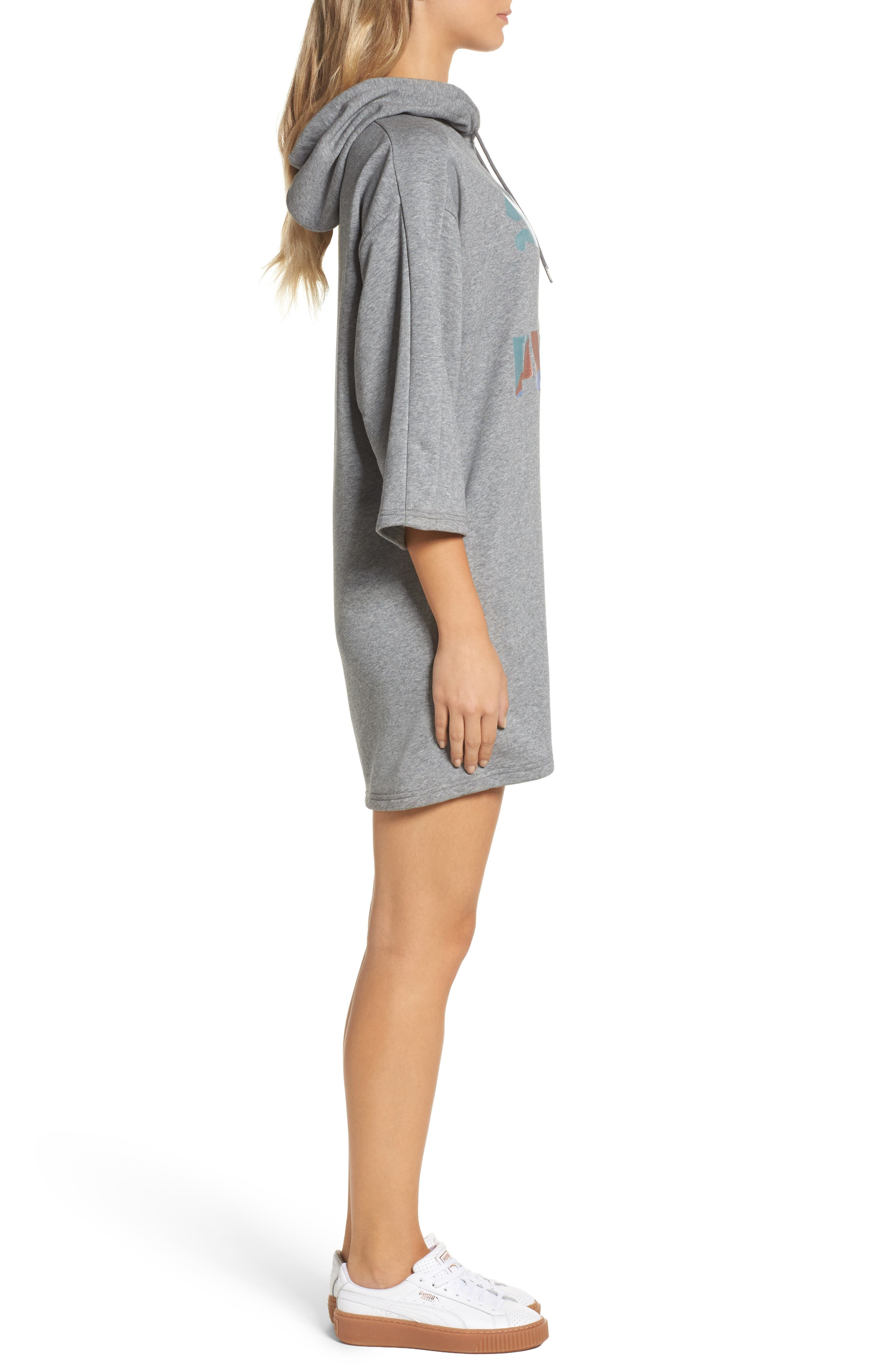 Alternate Image 3  - PUMA Glam Oversize Hooded Dress