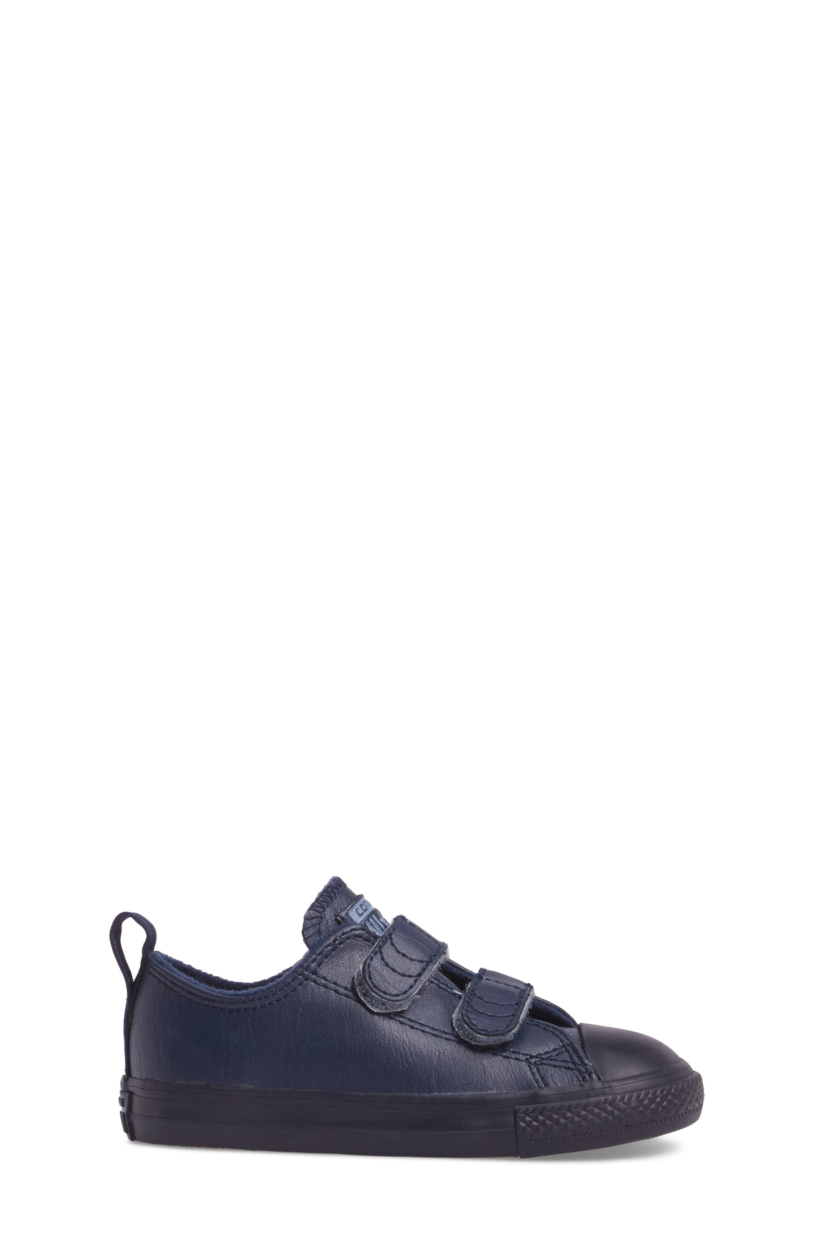 Chuck Taylor<sup>®</sup> All Star<sup>®</sup> 2V Low Top Sneaker,                             Alternate thumbnail 3, color,                             Midnight Leather