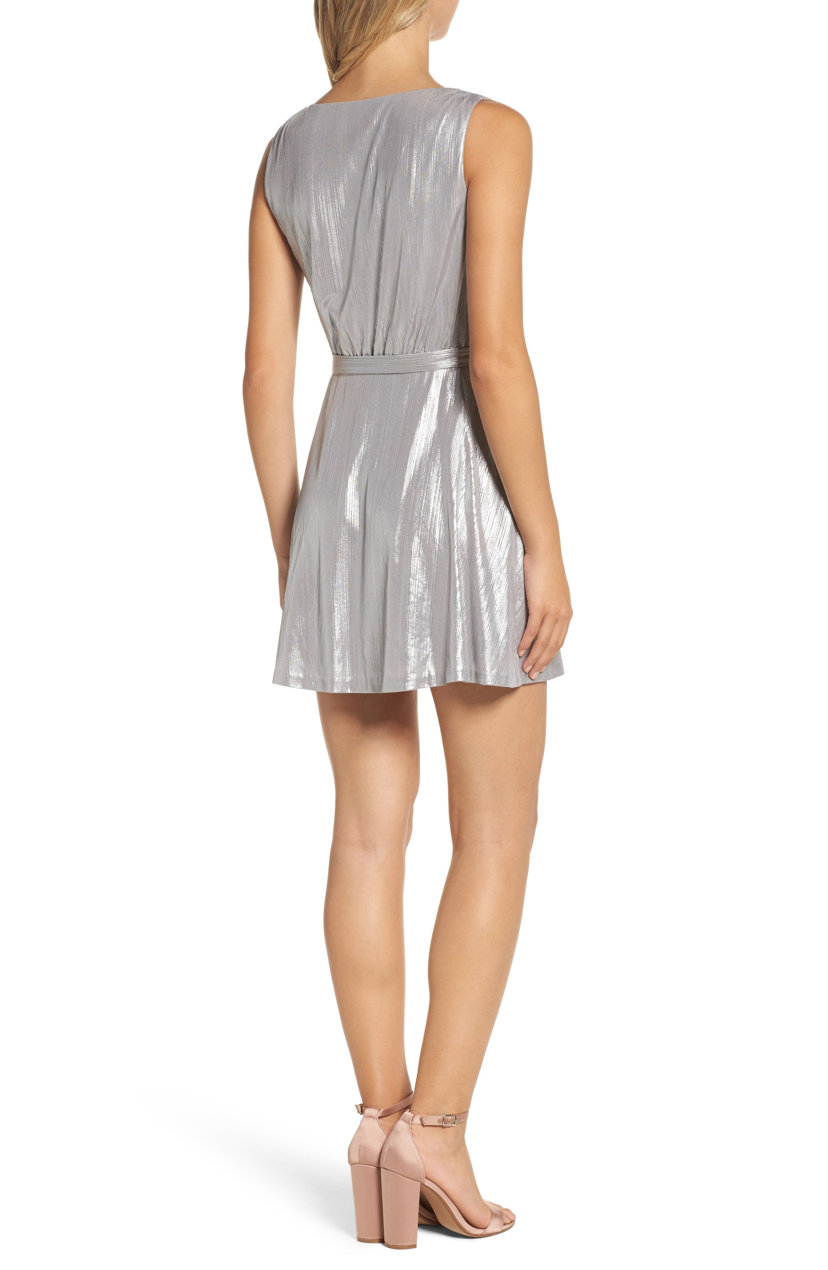 Alternate Image 2  - BB Dakota Aggie Wrap Dress