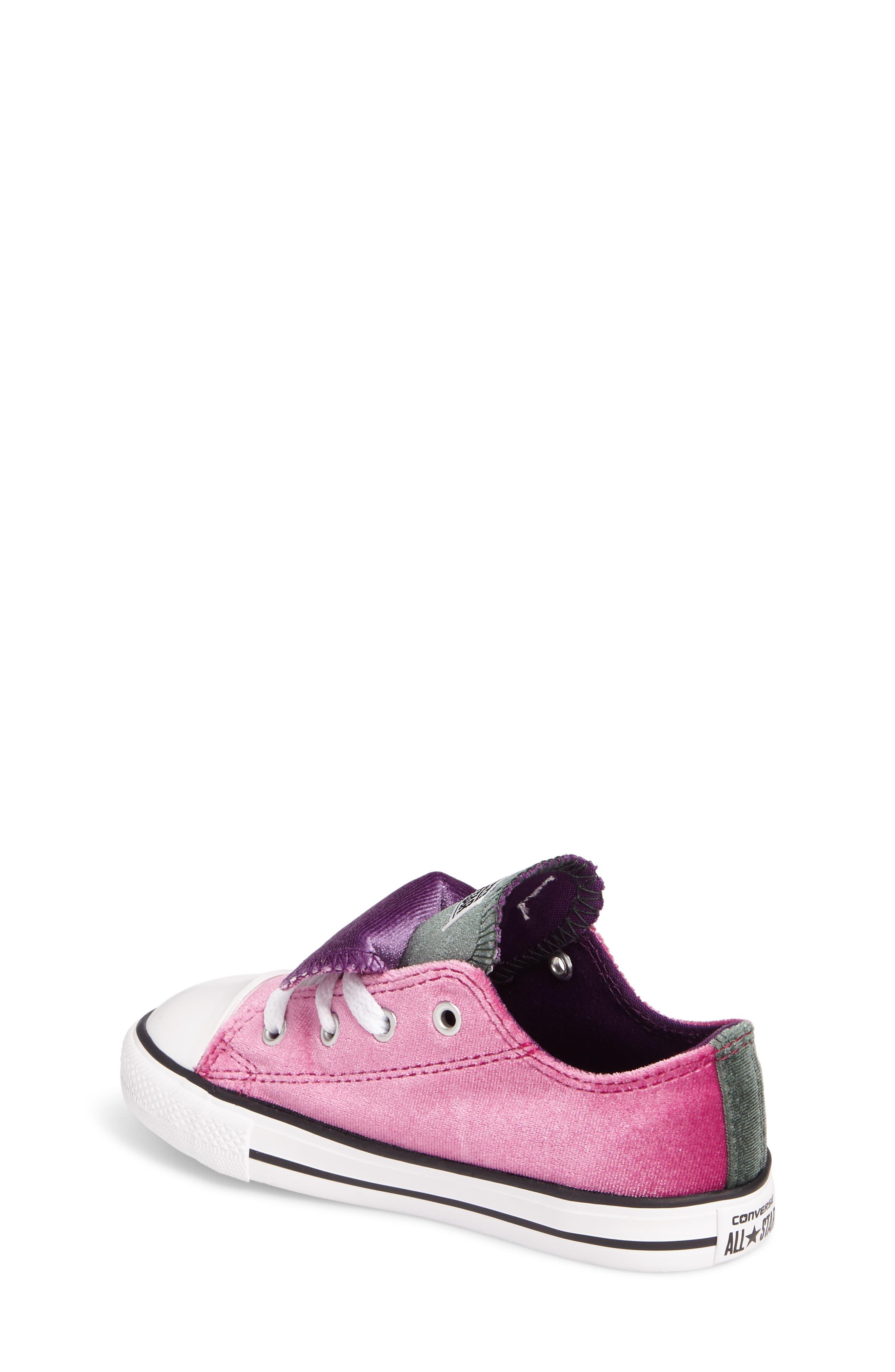 Alternate Image 2  - Converse All Star® Velvet Double Tongue Sneaker (Baby, Walker & Toddler)