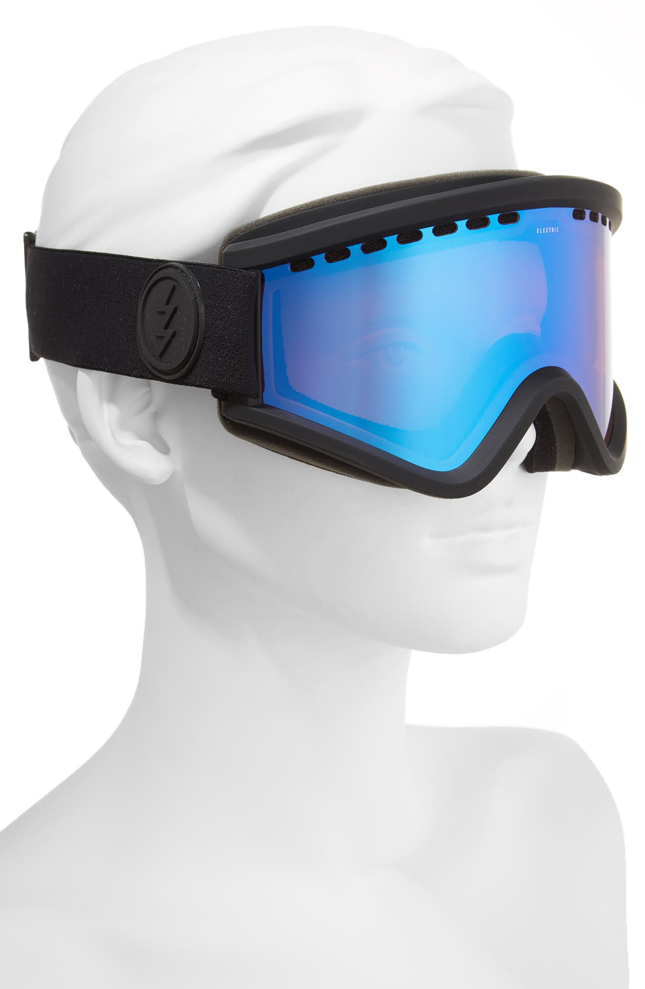 EGV Snow Goggles,                             Alternate thumbnail 2, color,                             Matte Black/ Blue Chrome