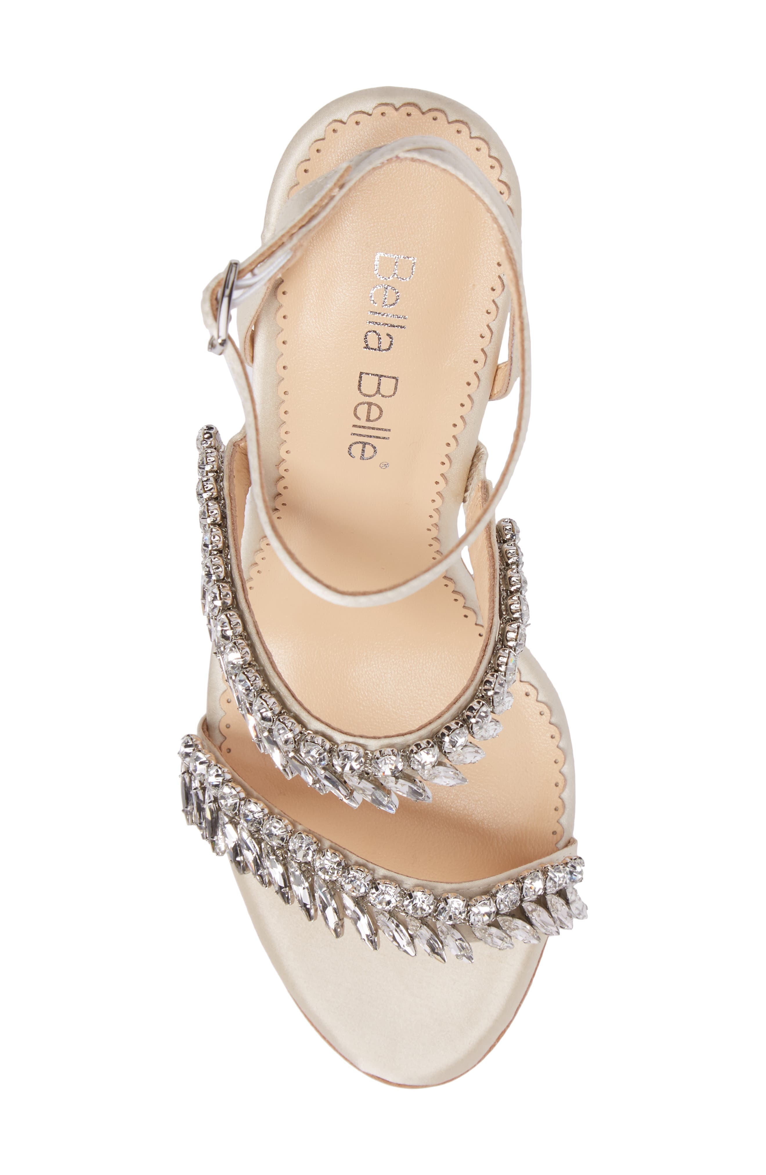 Belinda Embellished Sandal,                             Alternate thumbnail 5, color,                             Champagne