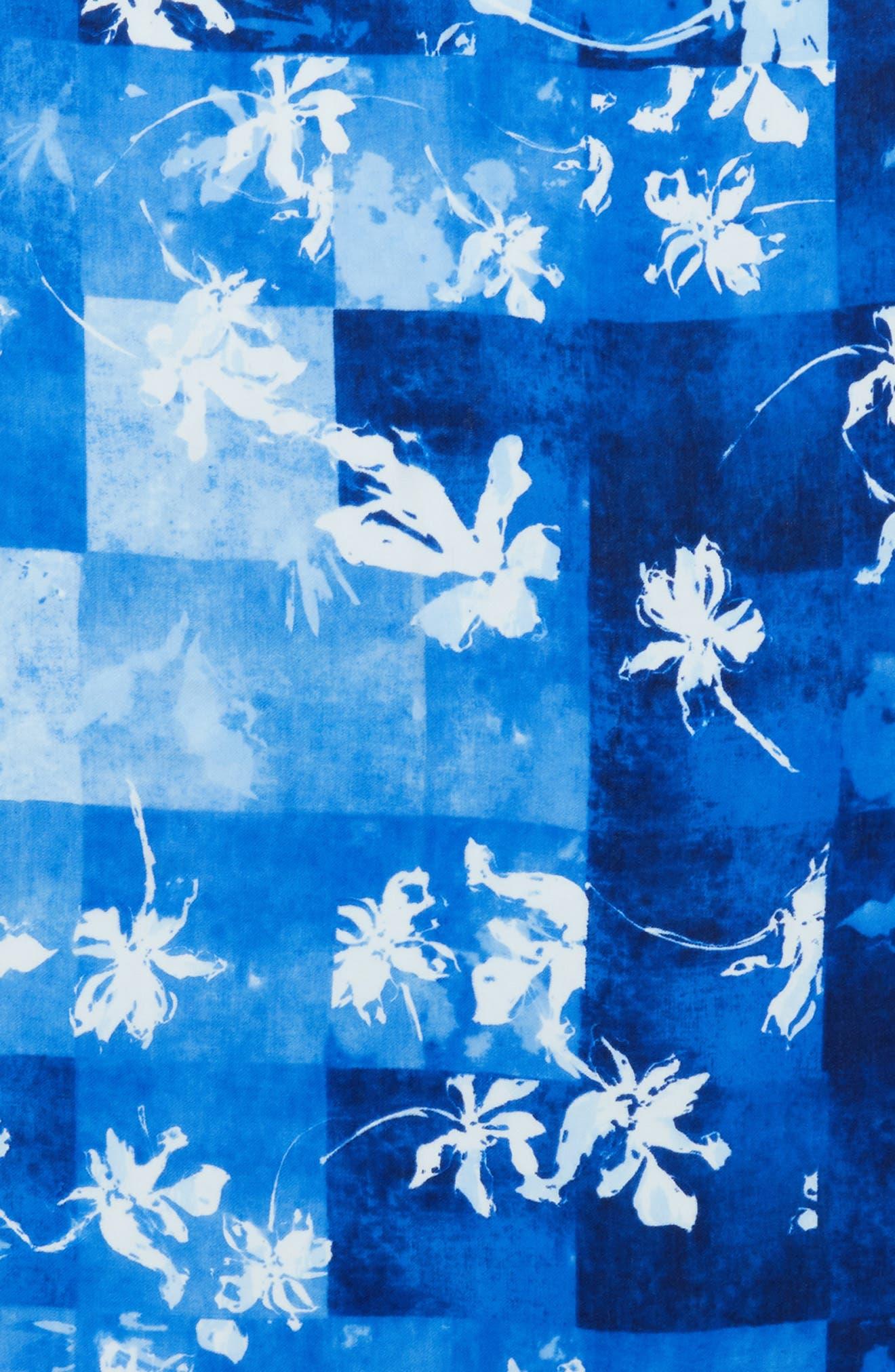 Alternate Image 3  - Nordstrom Solar Patchwork Tissue Wool & Cashmere Scarf