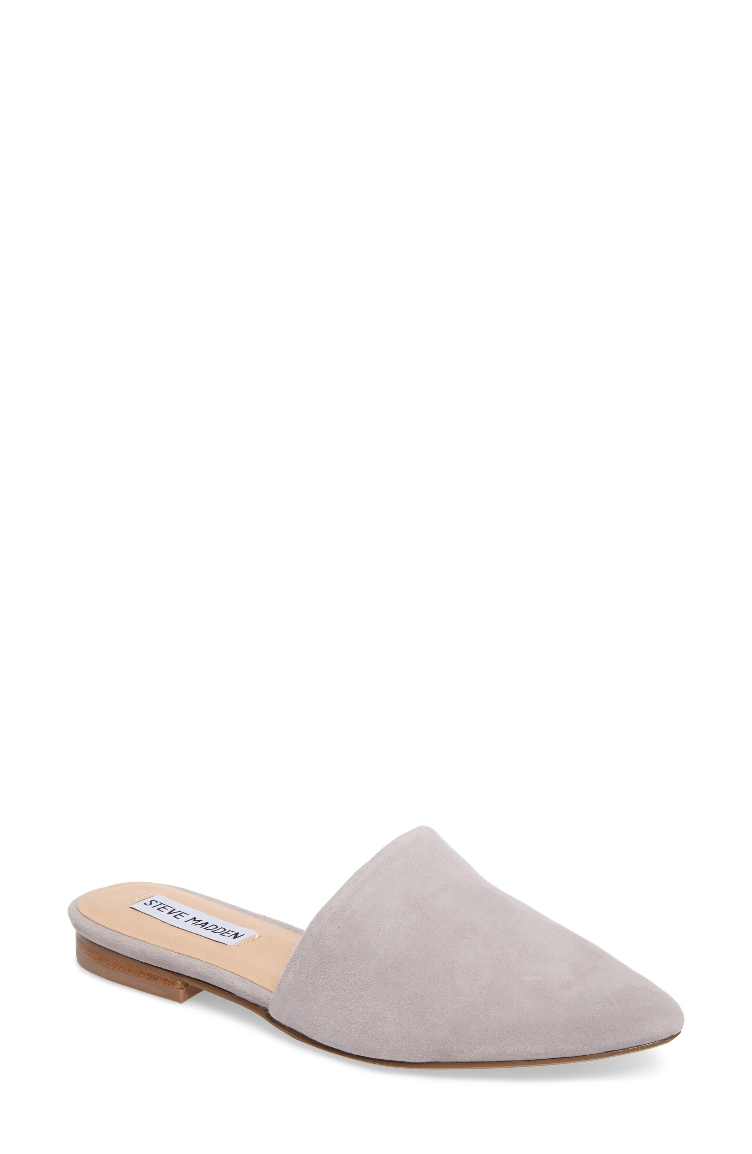 Trace Mule,                             Main thumbnail 1, color,                             Grey Suede