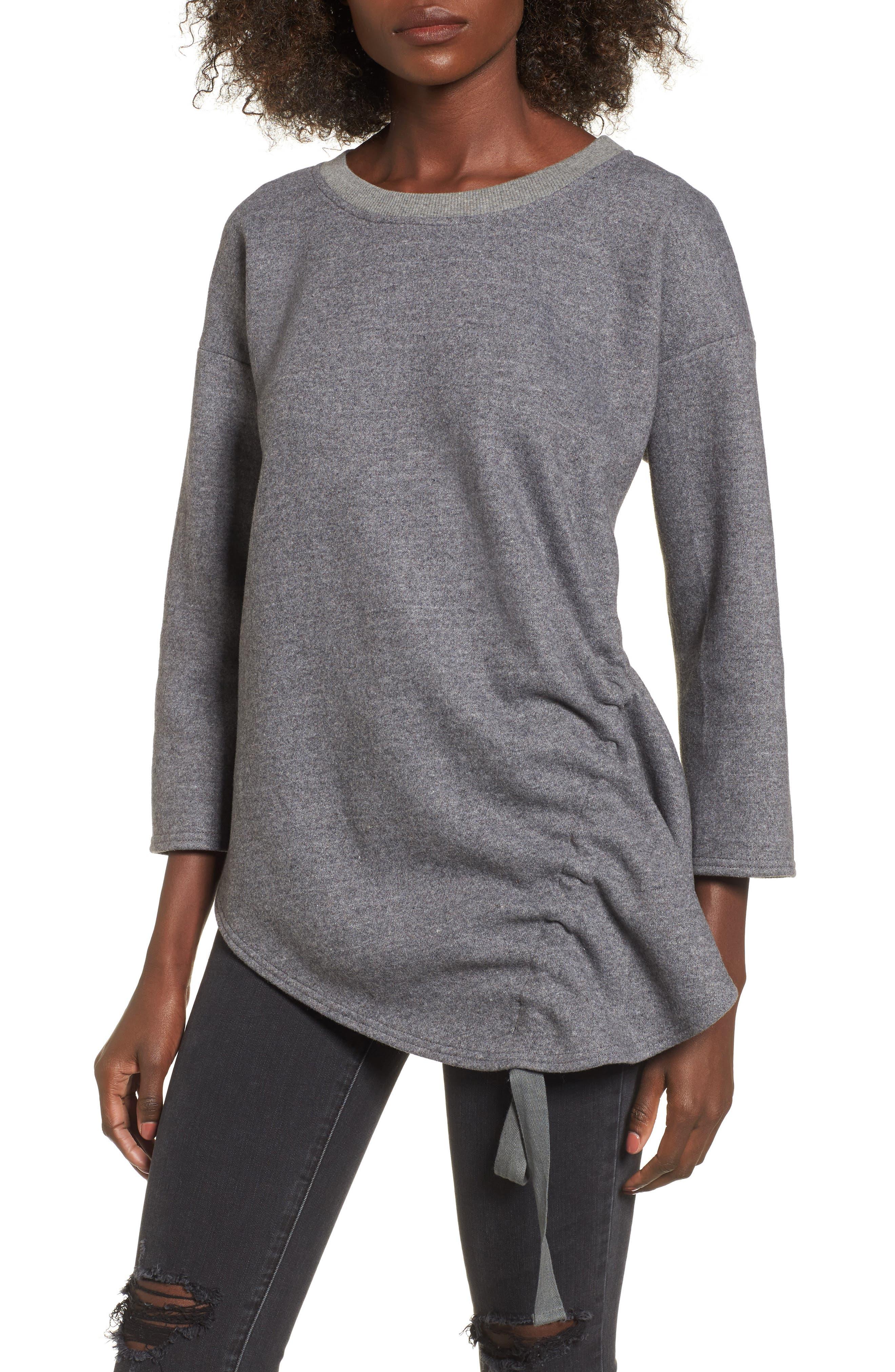 Double Cord Top,                         Main,                         color, Dark Grey