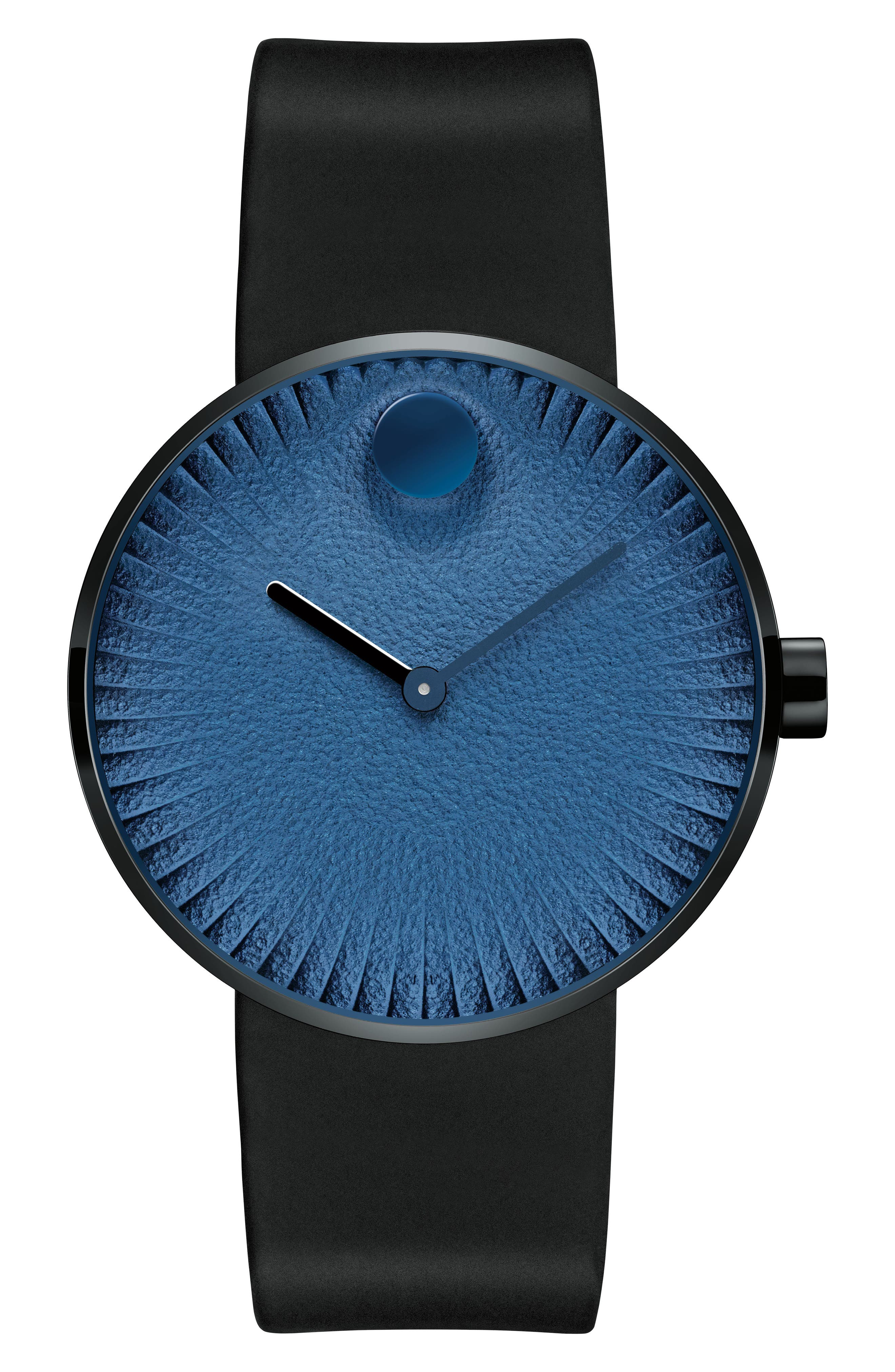 Main Image - Movado Edge Anchor Rubber Strap Watch, 40mm