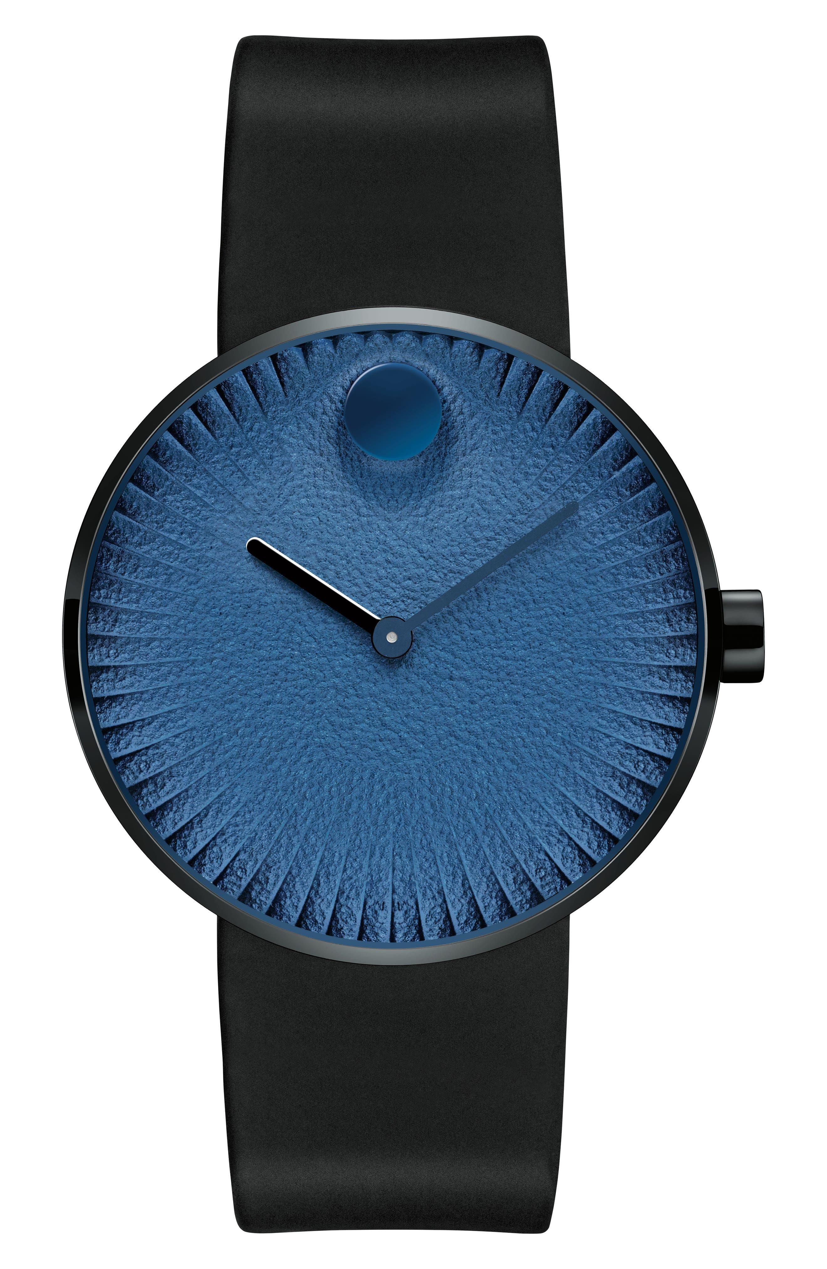 Edge Anchor Rubber Strap Watch, 40mm,                         Main,                         color, Black/ Blue
