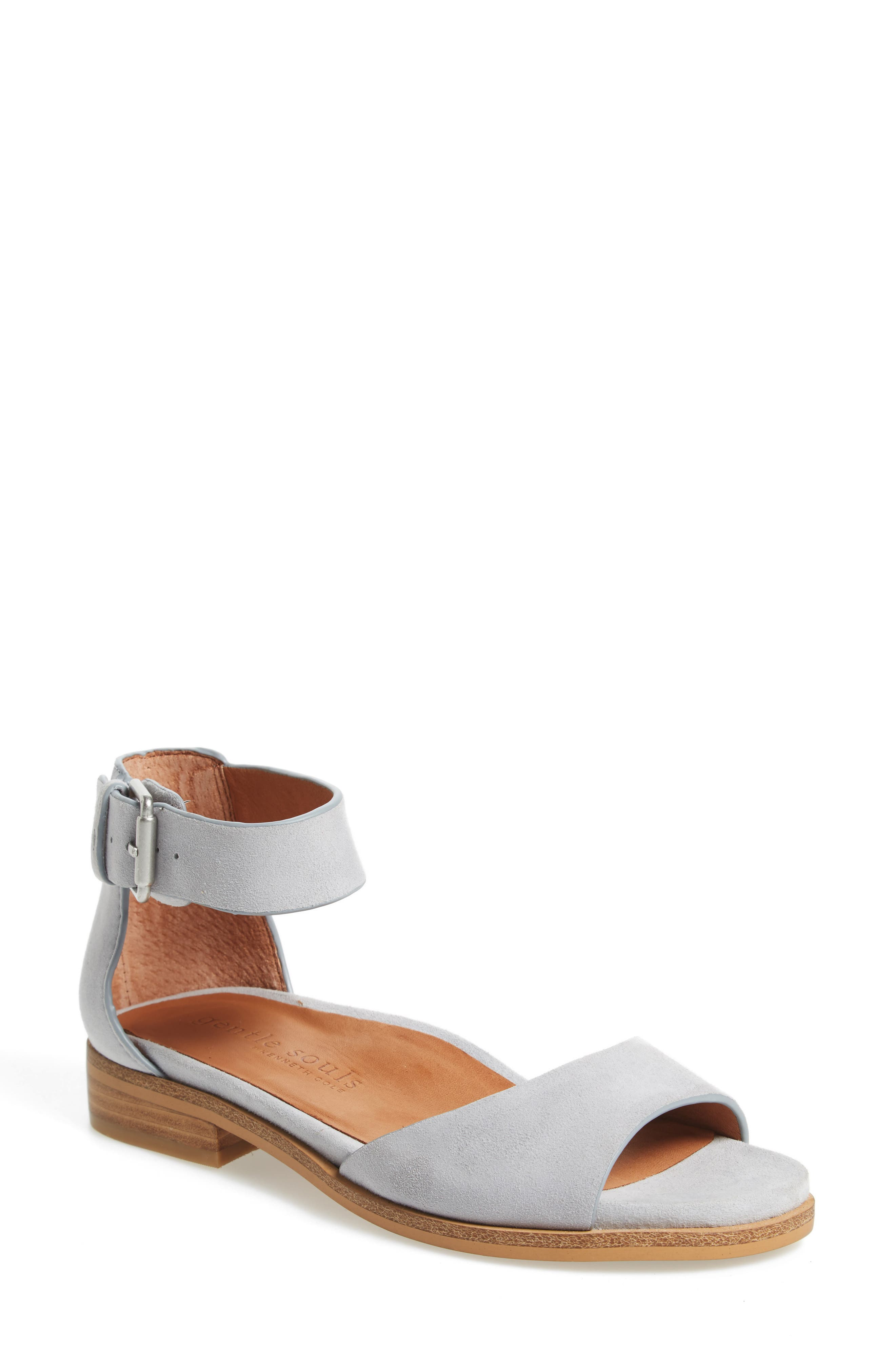 by Kenneth Cole Gracey Sandal,                             Main thumbnail 1, color,                             Winter Blue Suede