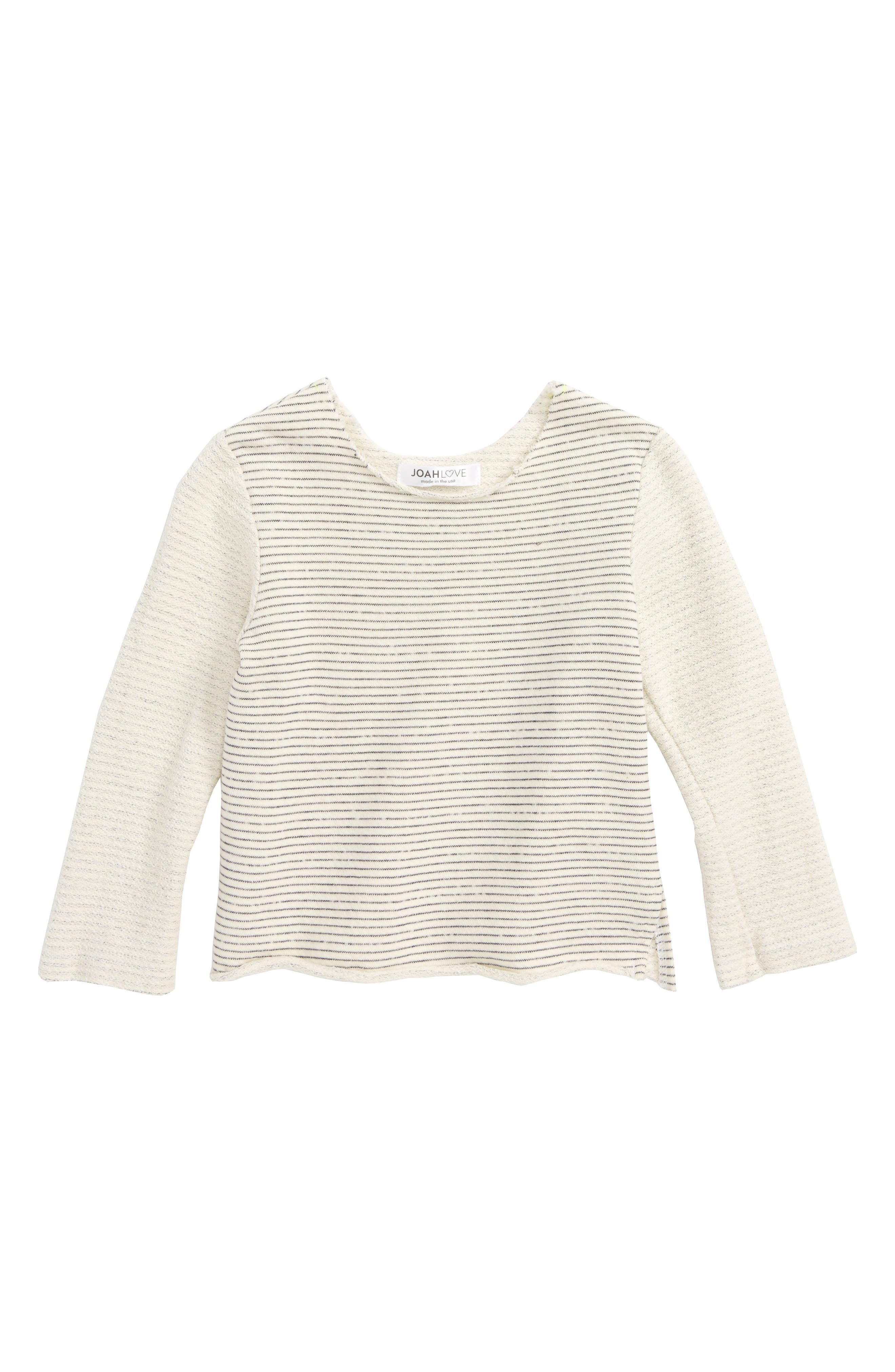 Joah Love Stripe Sweatshirt (Baby Boys)