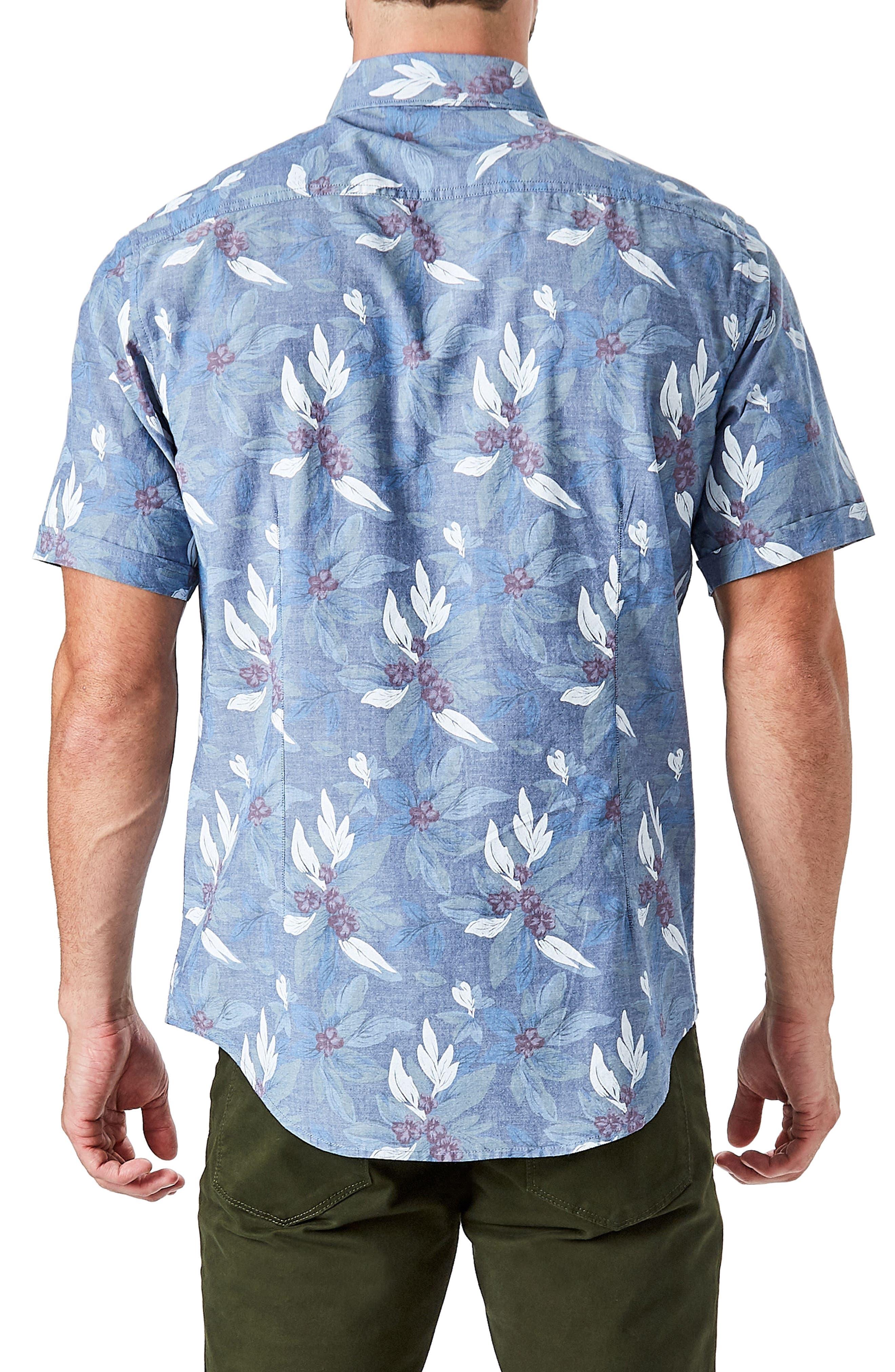 Woven Sport Shirt,                             Alternate thumbnail 2, color,                             Slate Blue