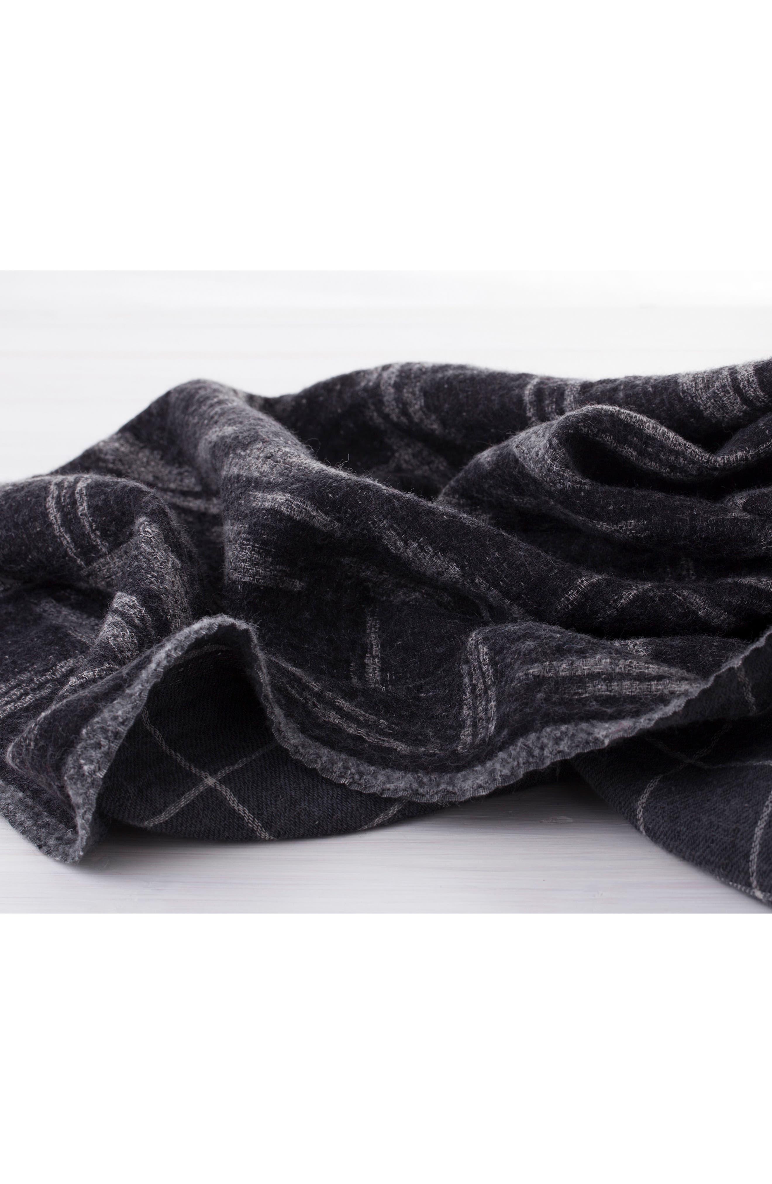 Kasuri Double Face Merino Wool Throw,                             Alternate thumbnail 3, color,                             Kasuri