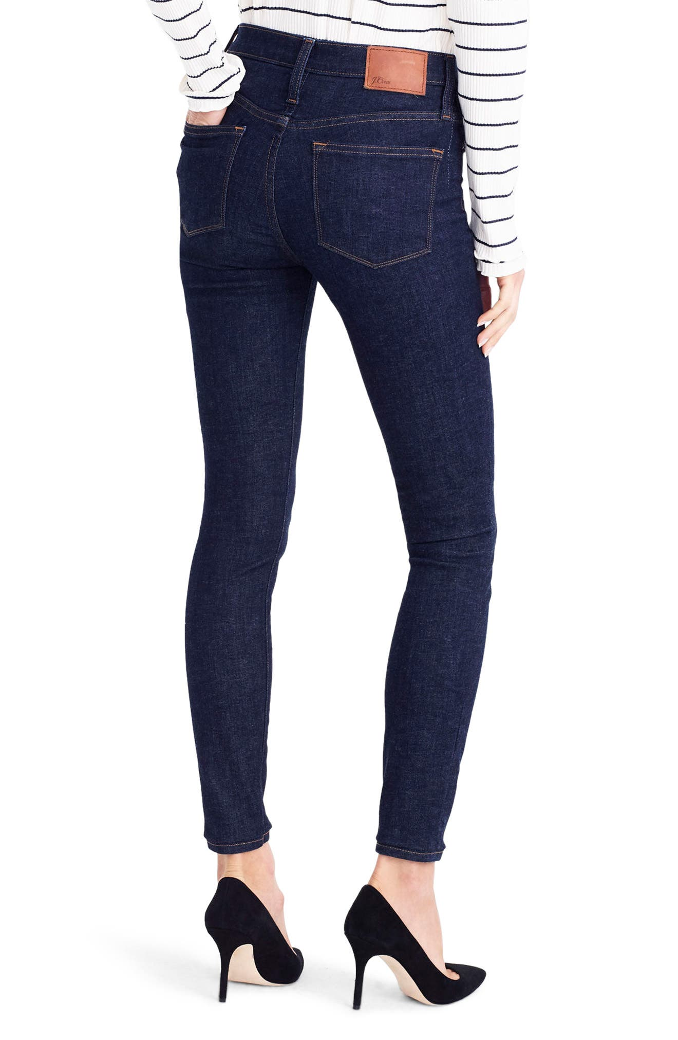 Alternate Image 2  - J.Crew Toothpick High Rise Jeans (Classic Rinse)