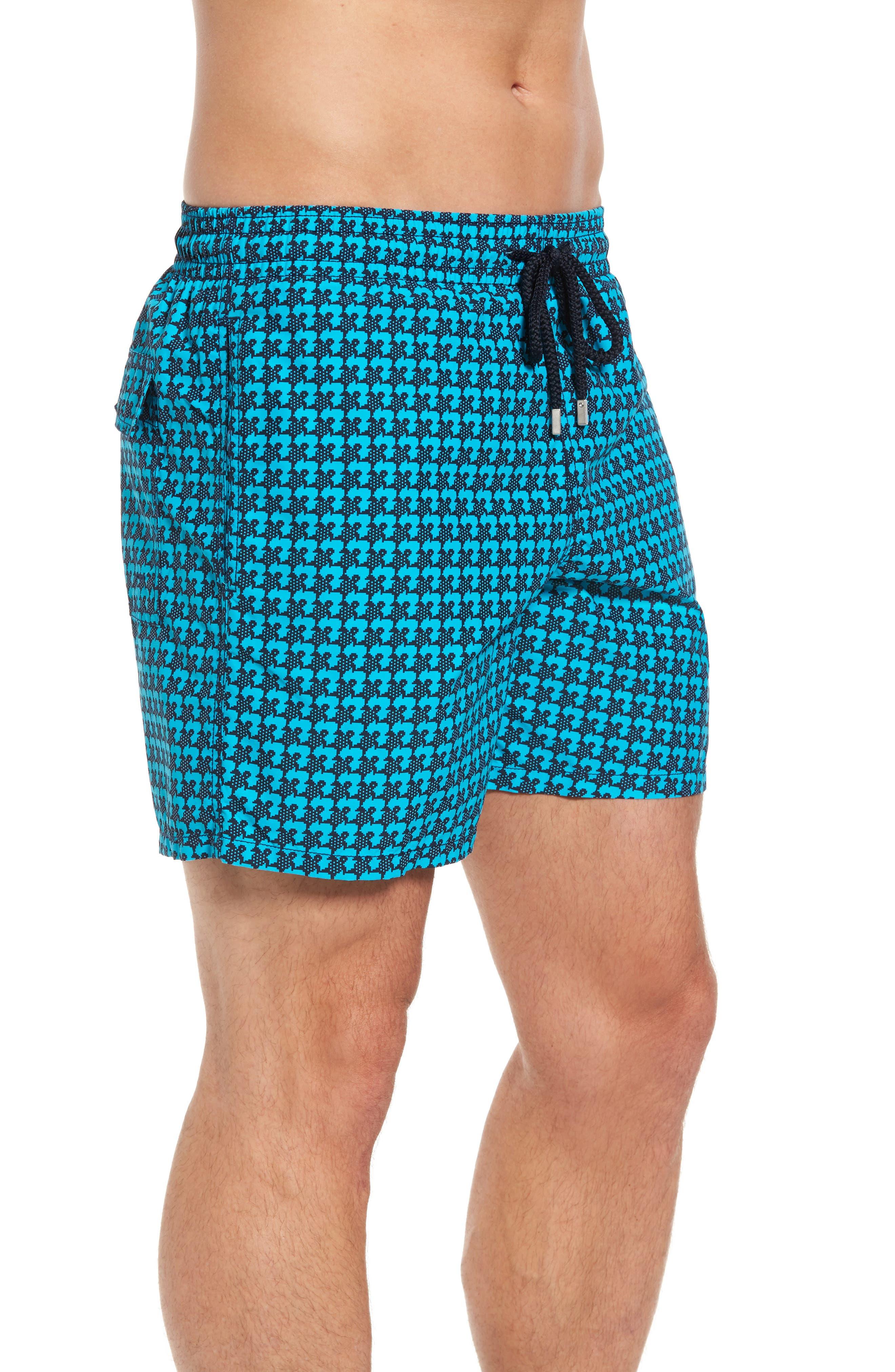 Moorea Baby Trop Swim Shorts,                             Alternate thumbnail 3, color,                             Azure