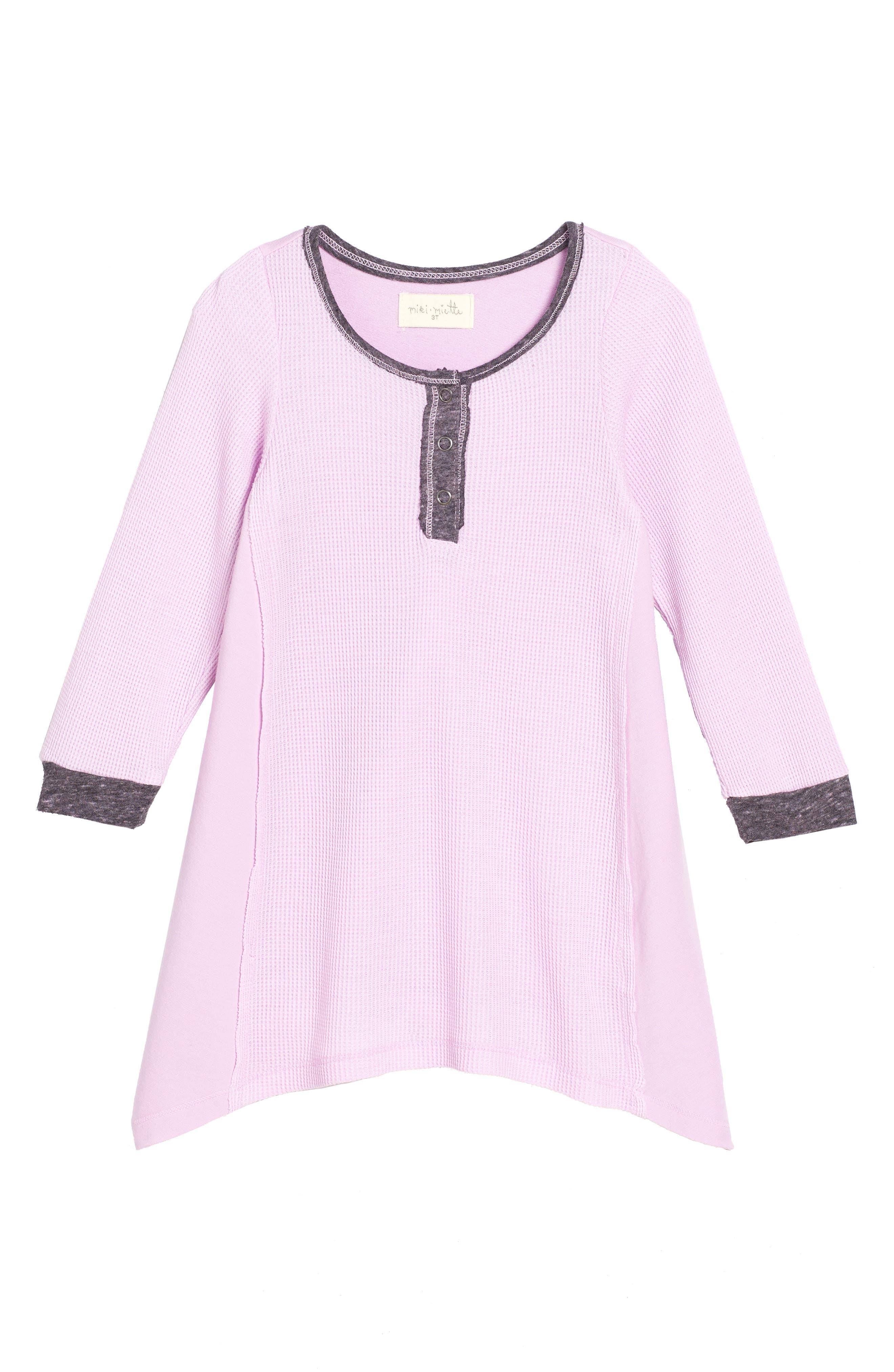 Main Image - Miki Miette Riley Thermal Dress (Toddler Girls & Little Girls)