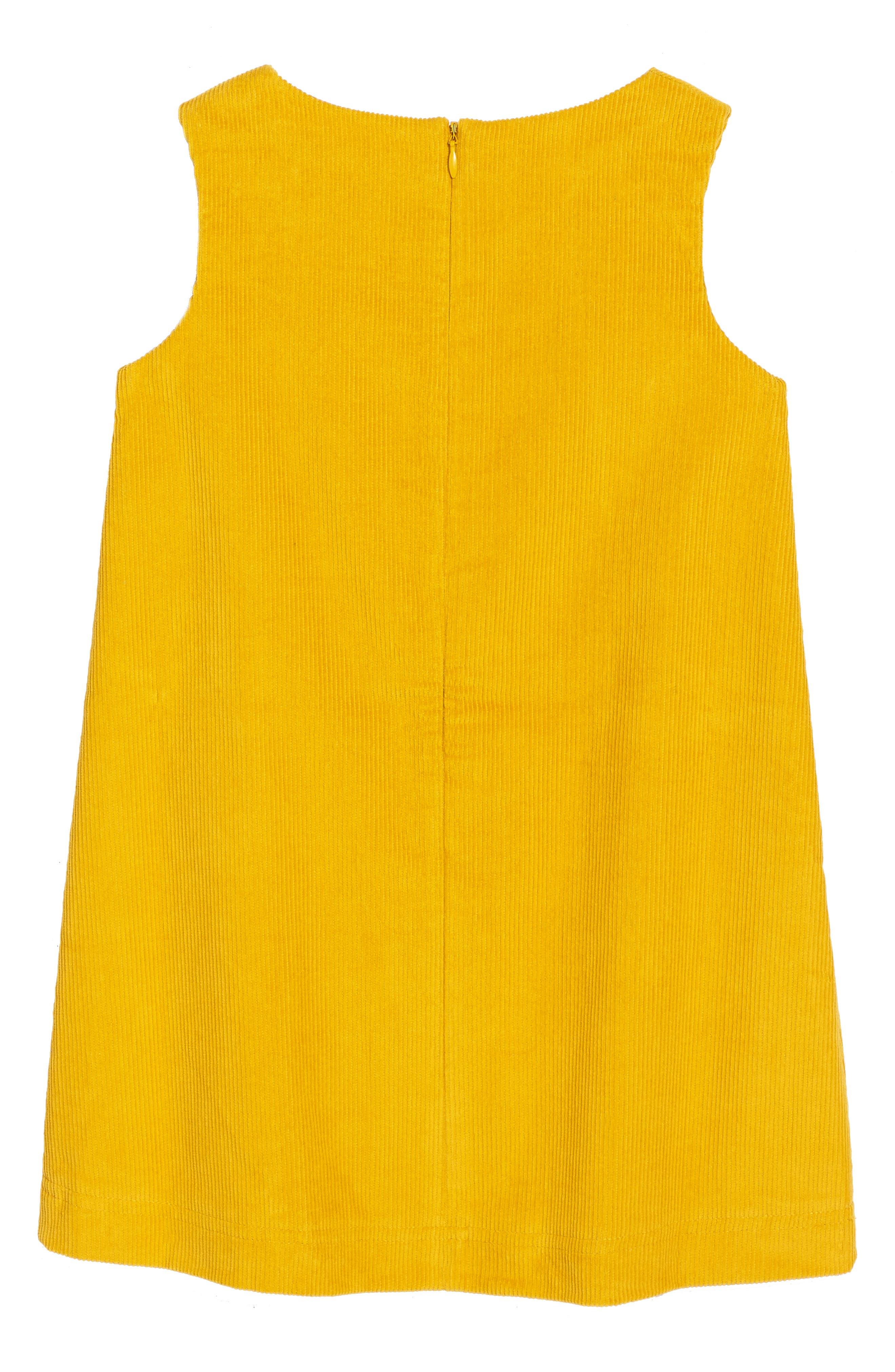 Animal Appliqué Dress,                             Alternate thumbnail 2, color,                             Saffron Yellow Deer Yel