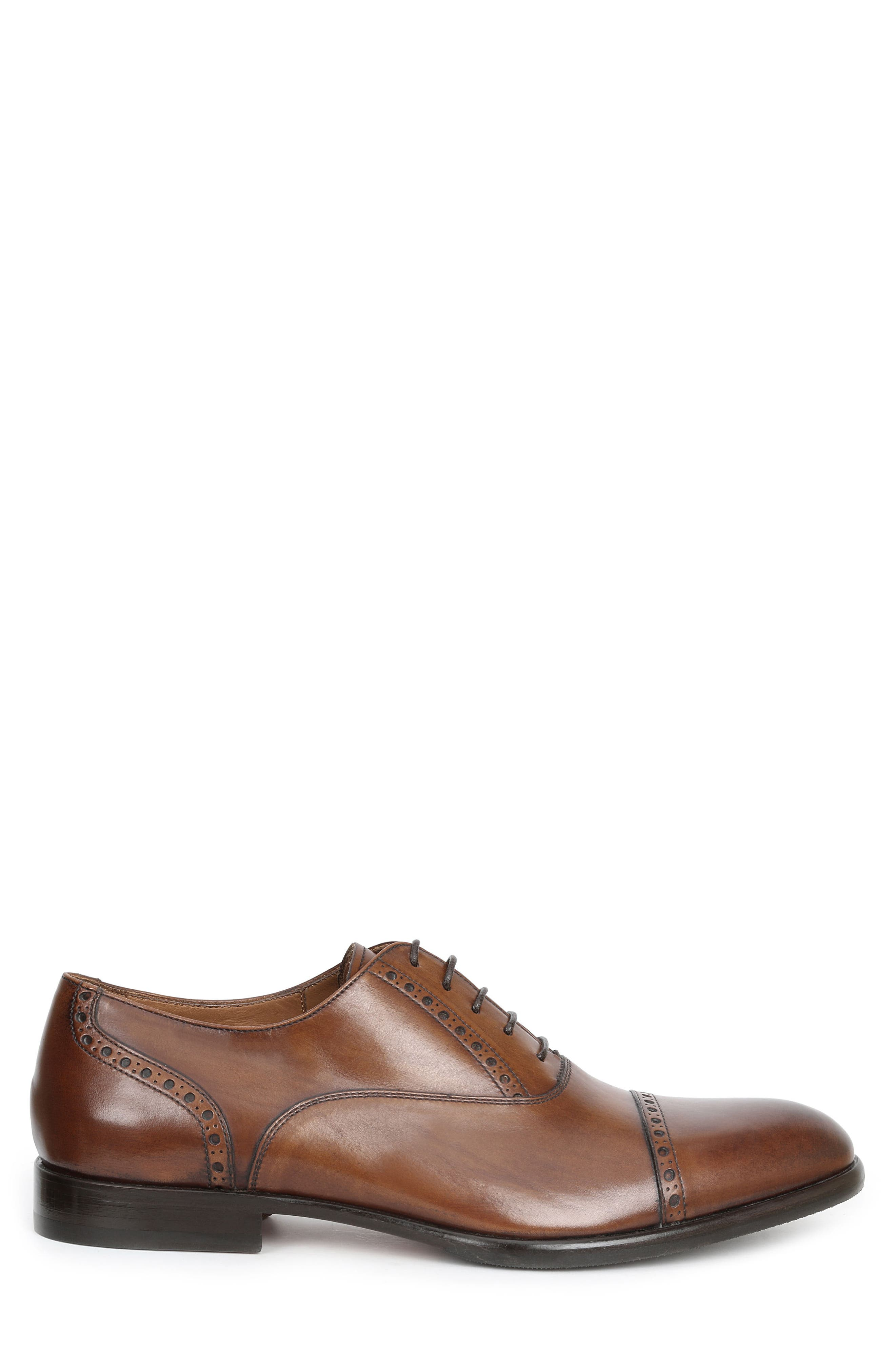 Pisa Cap Toe Oxford,                             Alternate thumbnail 3, color,                             Cognac