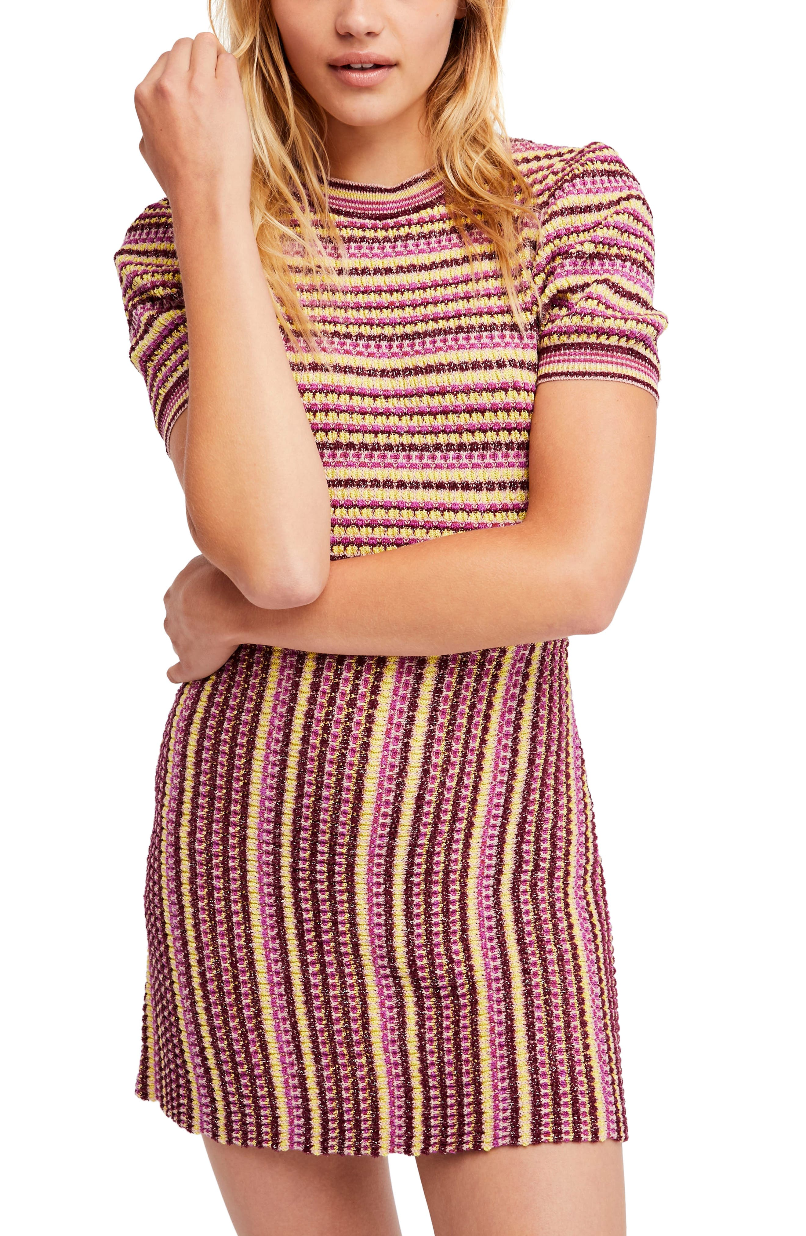 Into You Minidress,                         Main,                         color, Pink Combo