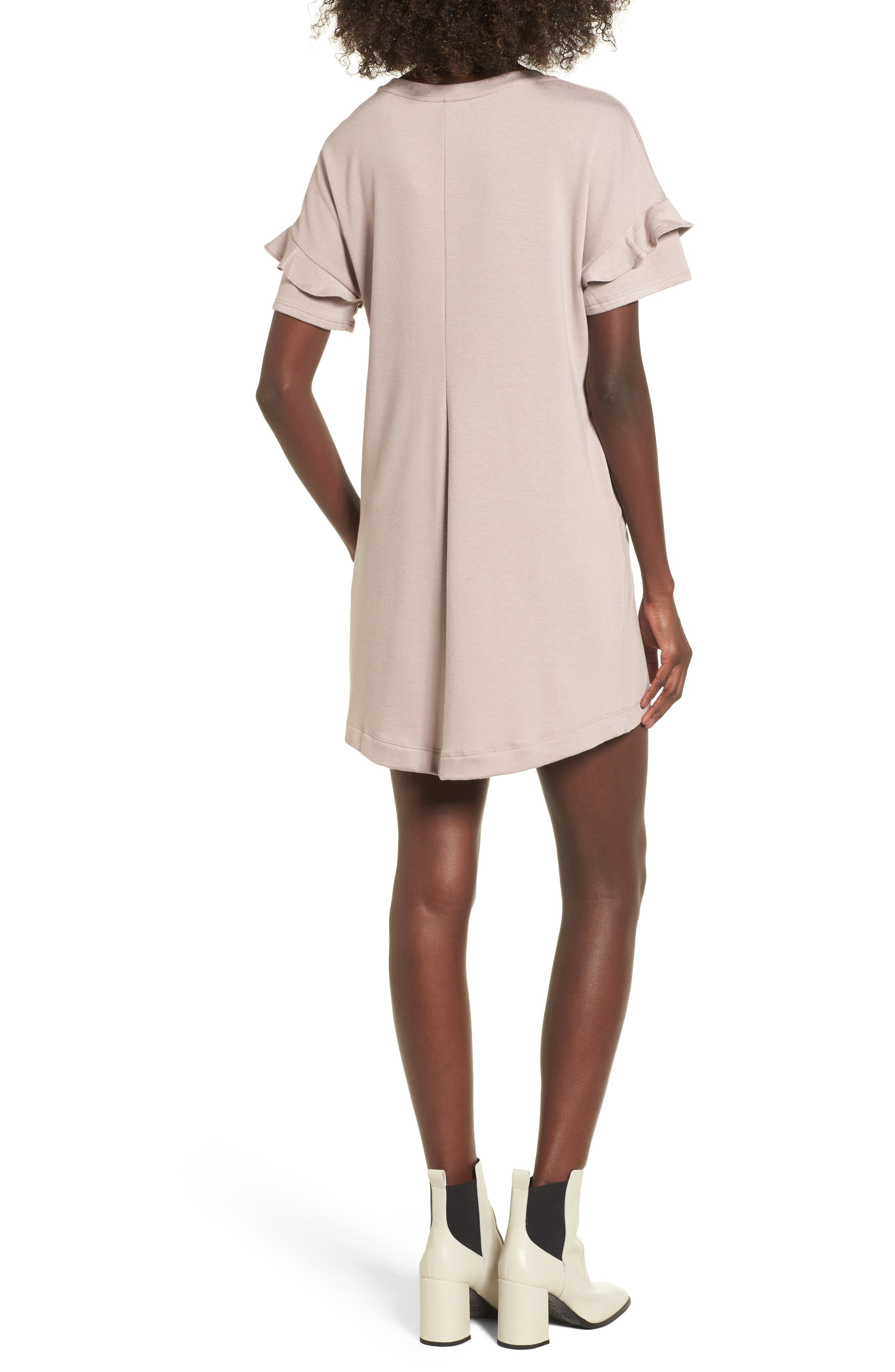 Alternate Image 2  - Ruffle Sleeve T-Shirt Dress