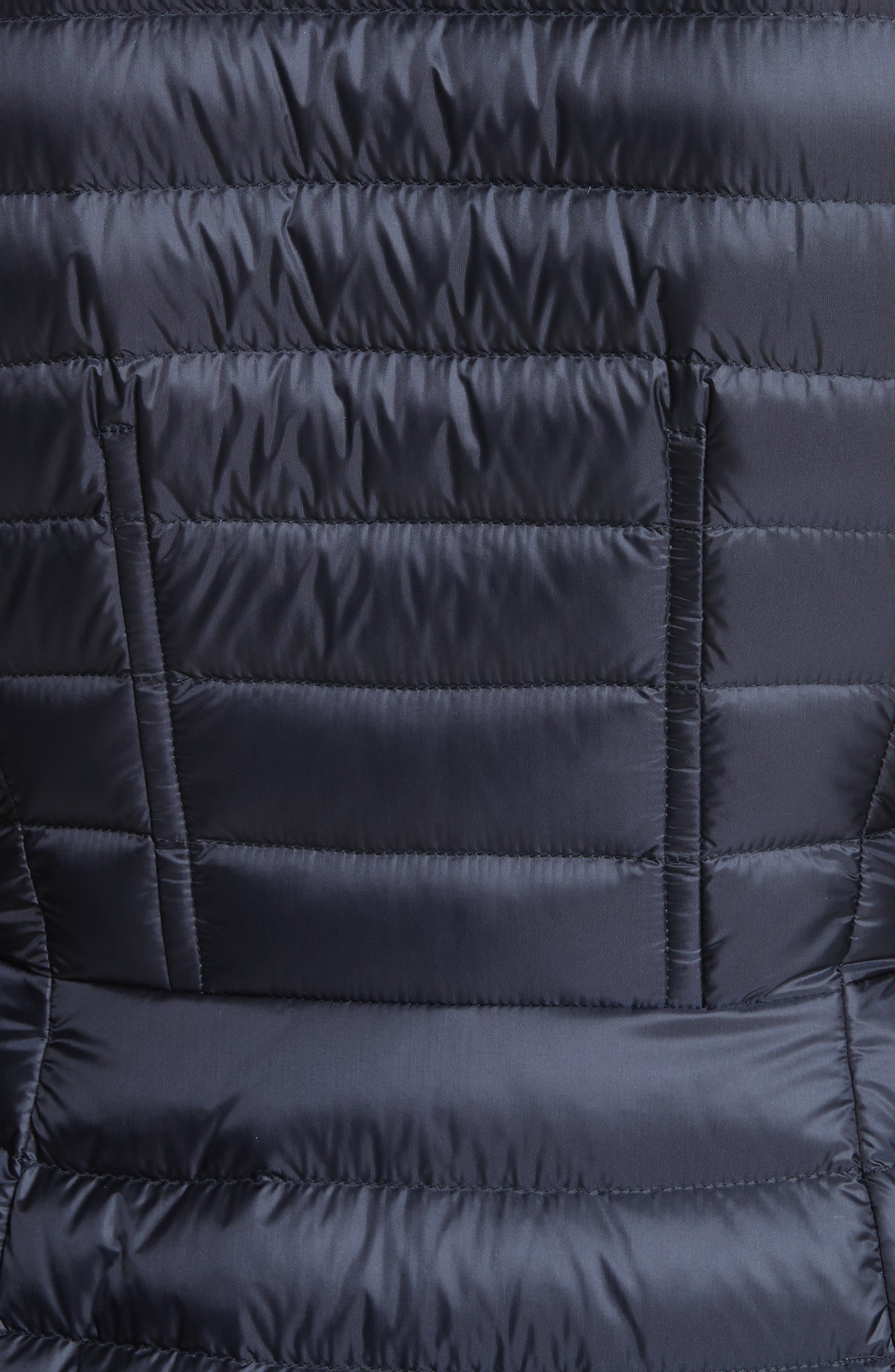 Agatelon Quilted Puffer Coat,                             Alternate thumbnail 5, color,                             Navy