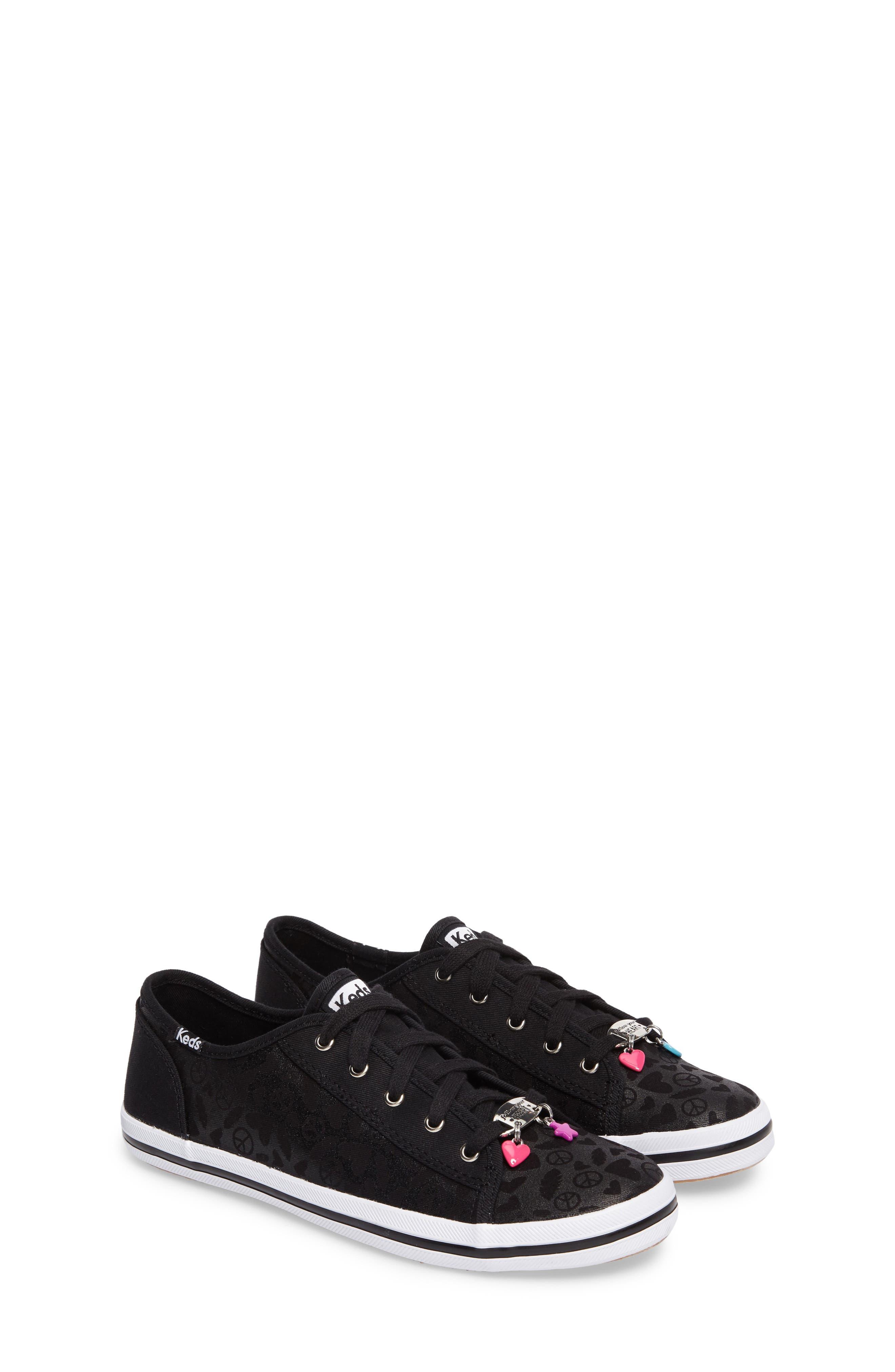 Kickstart Charm Sneaker,                             Main thumbnail 1, color,                             Black