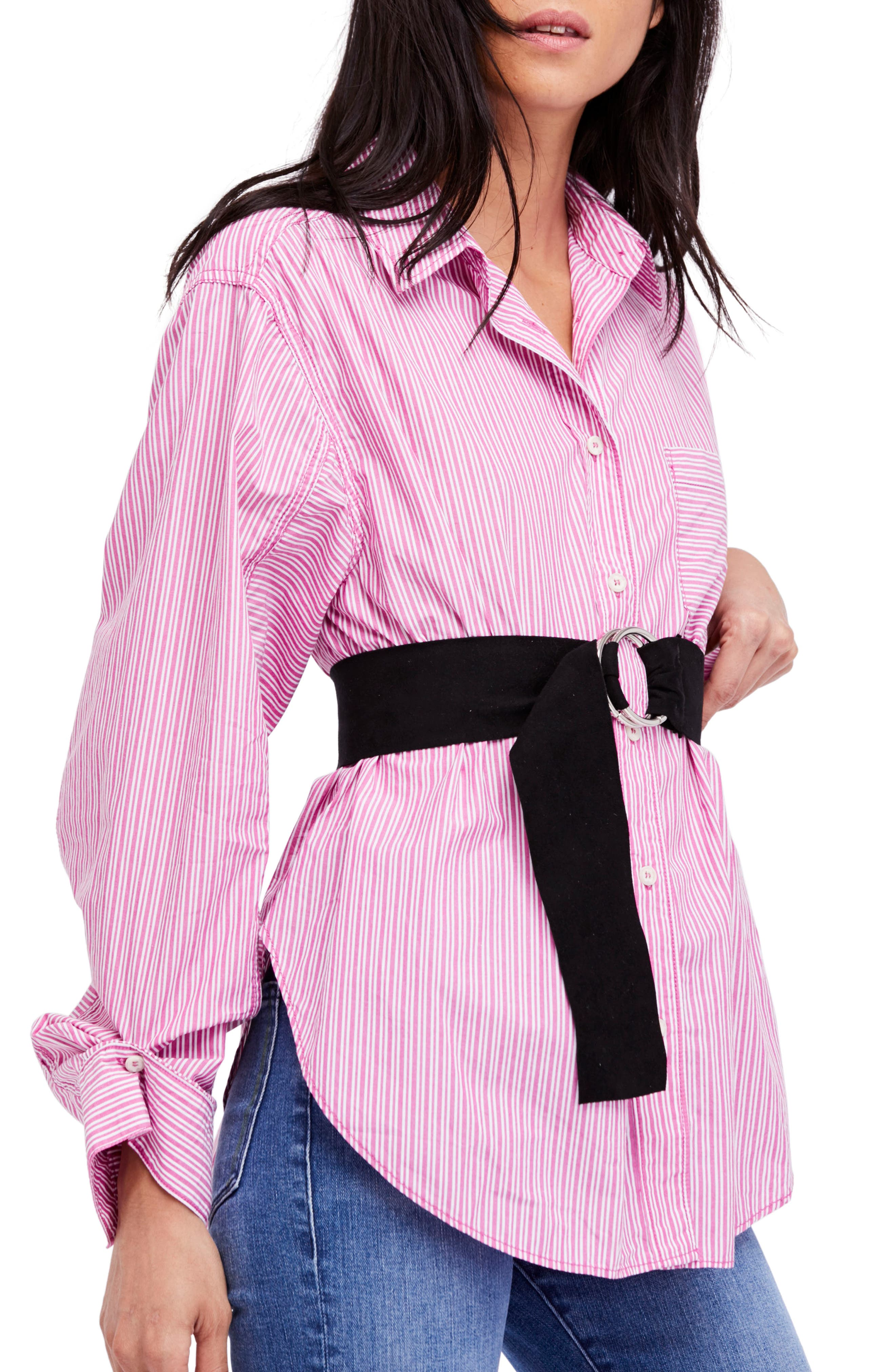 Tie It in a Bow Shirt,                         Main,                         color, Violet