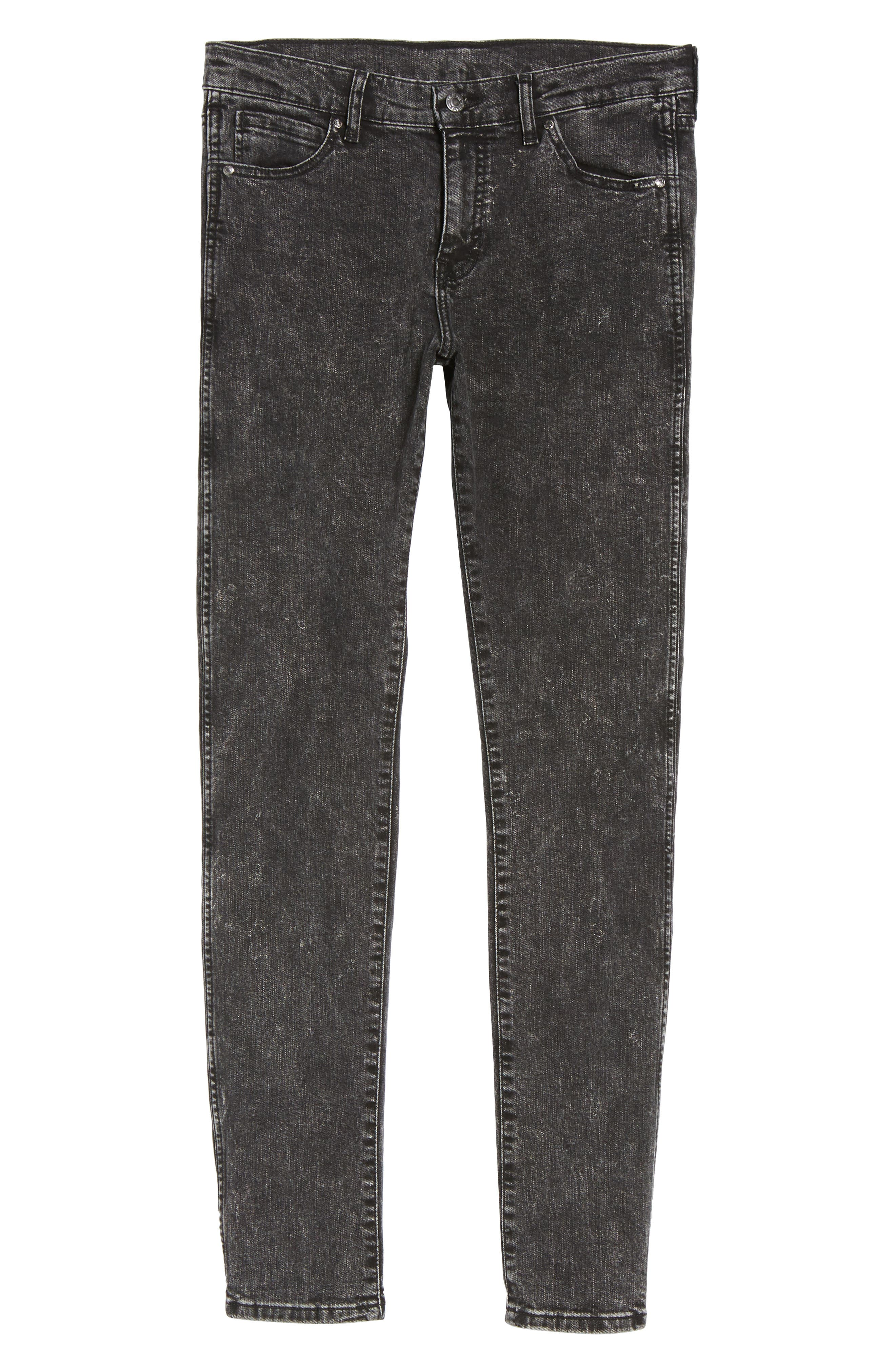Alternate Image 6  - Dr. Denim Supply Co. Snap Skinny Fit Jeans (Acid Black)