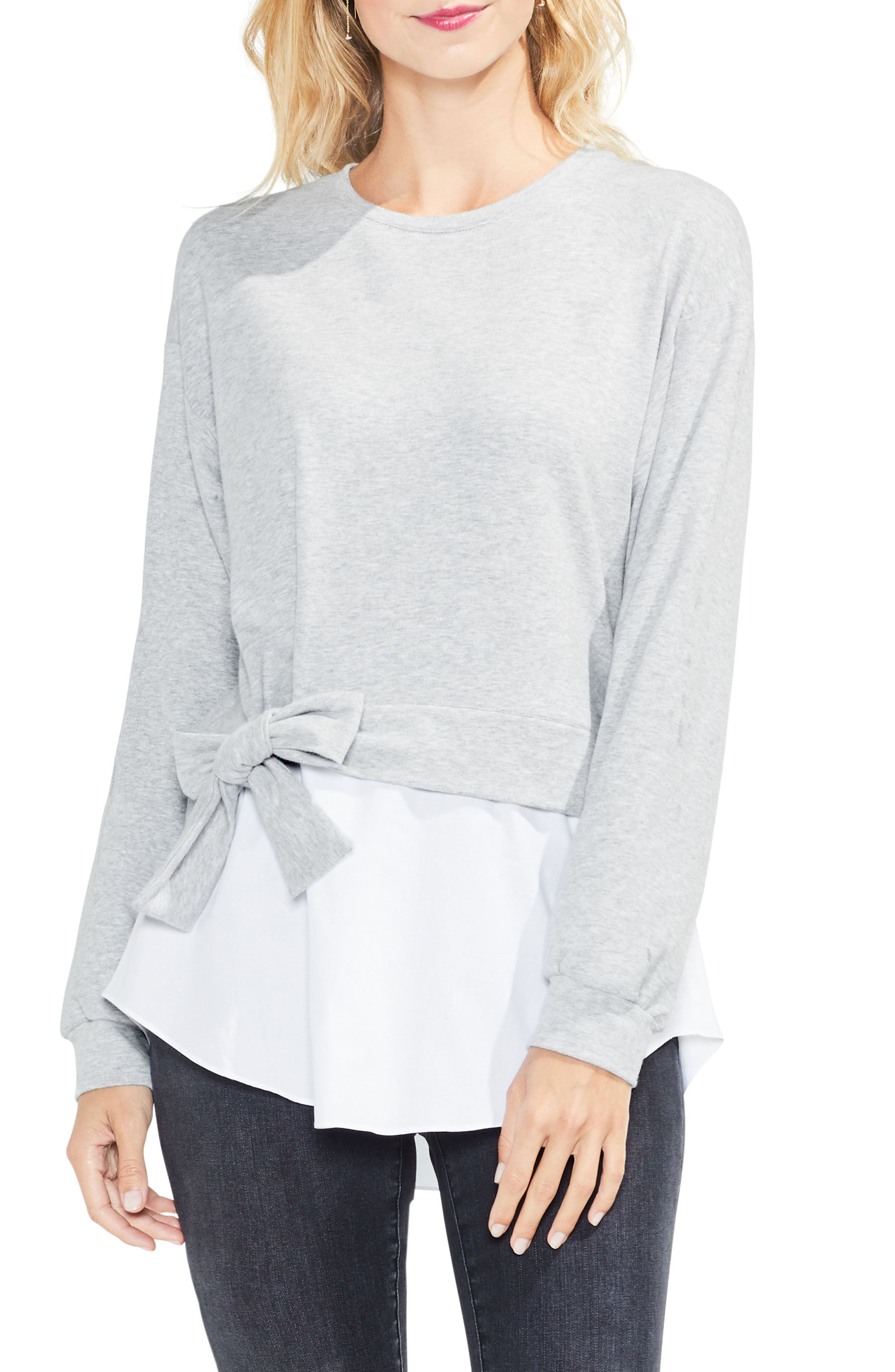 Two by Vince Camuto Tie-Waist Sweatshirt (Regular & Petite)