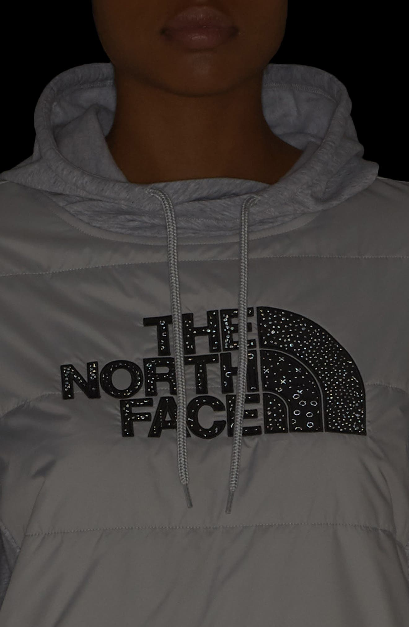 Reflective Logo Hoodie,                             Alternate thumbnail 4, color,                             Tnf Black/ Grey Htr/ Black