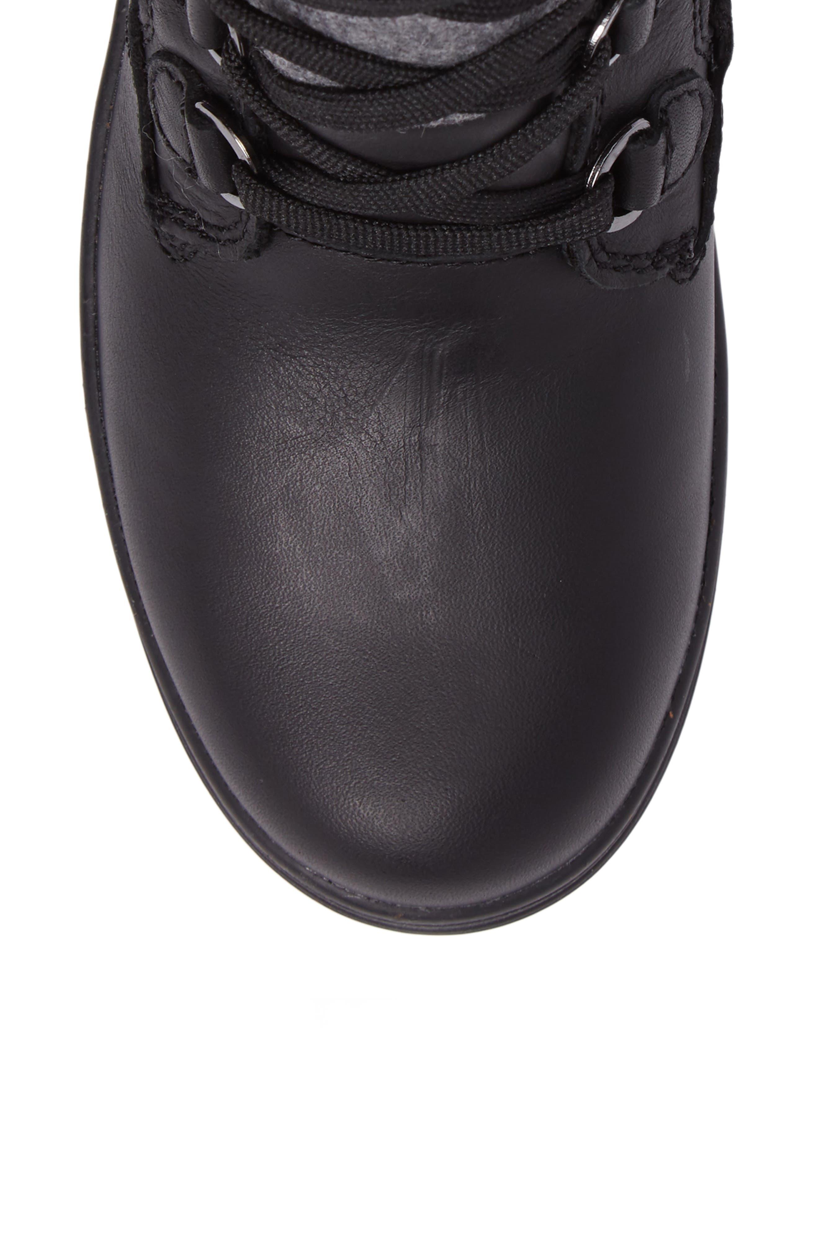 Glata Waterproof Boot,                             Alternate thumbnail 5, color,                             Black Leather