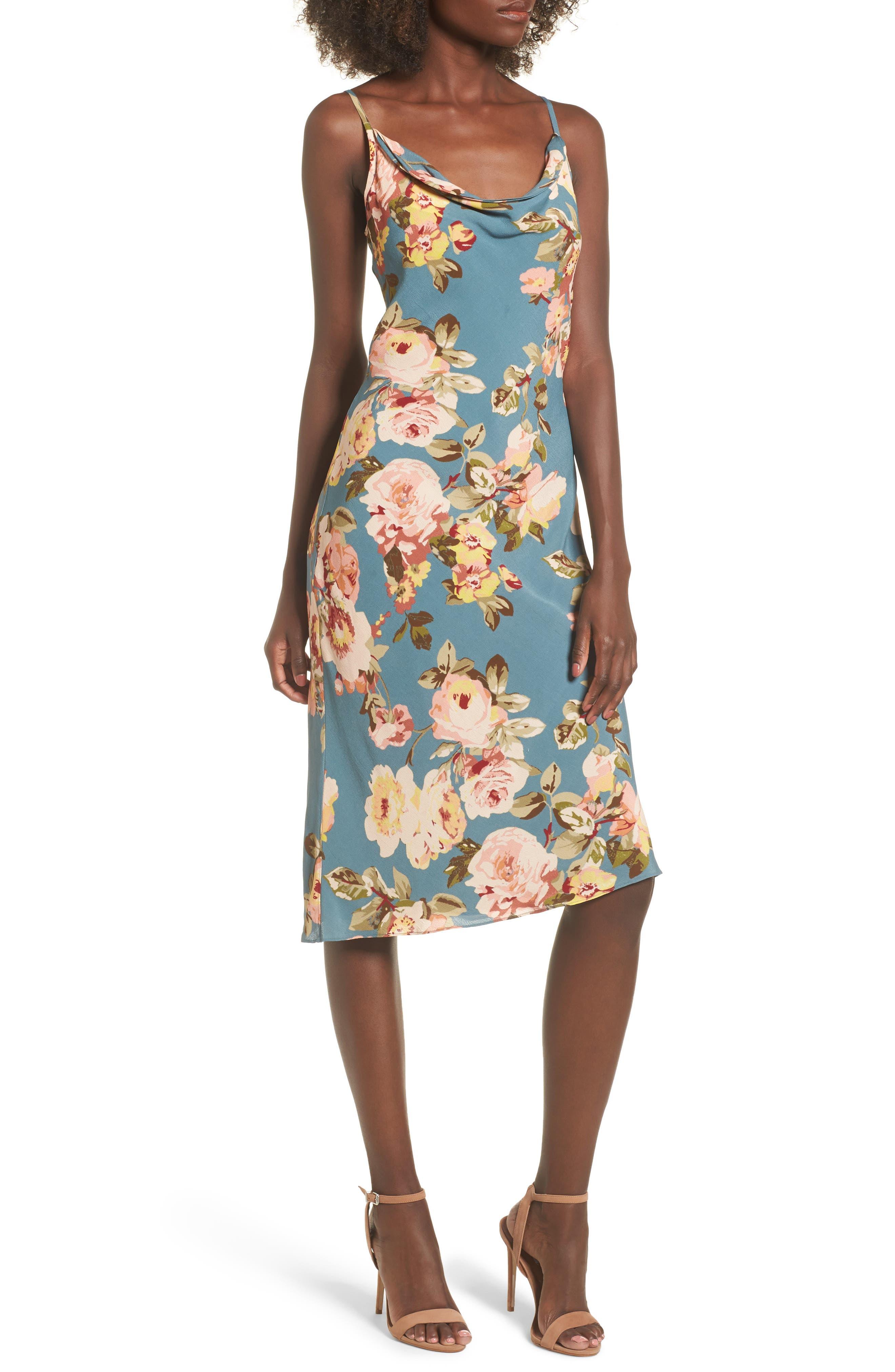 Ozark Midi Dress,                         Main,                         color, Sage Marissa Floral