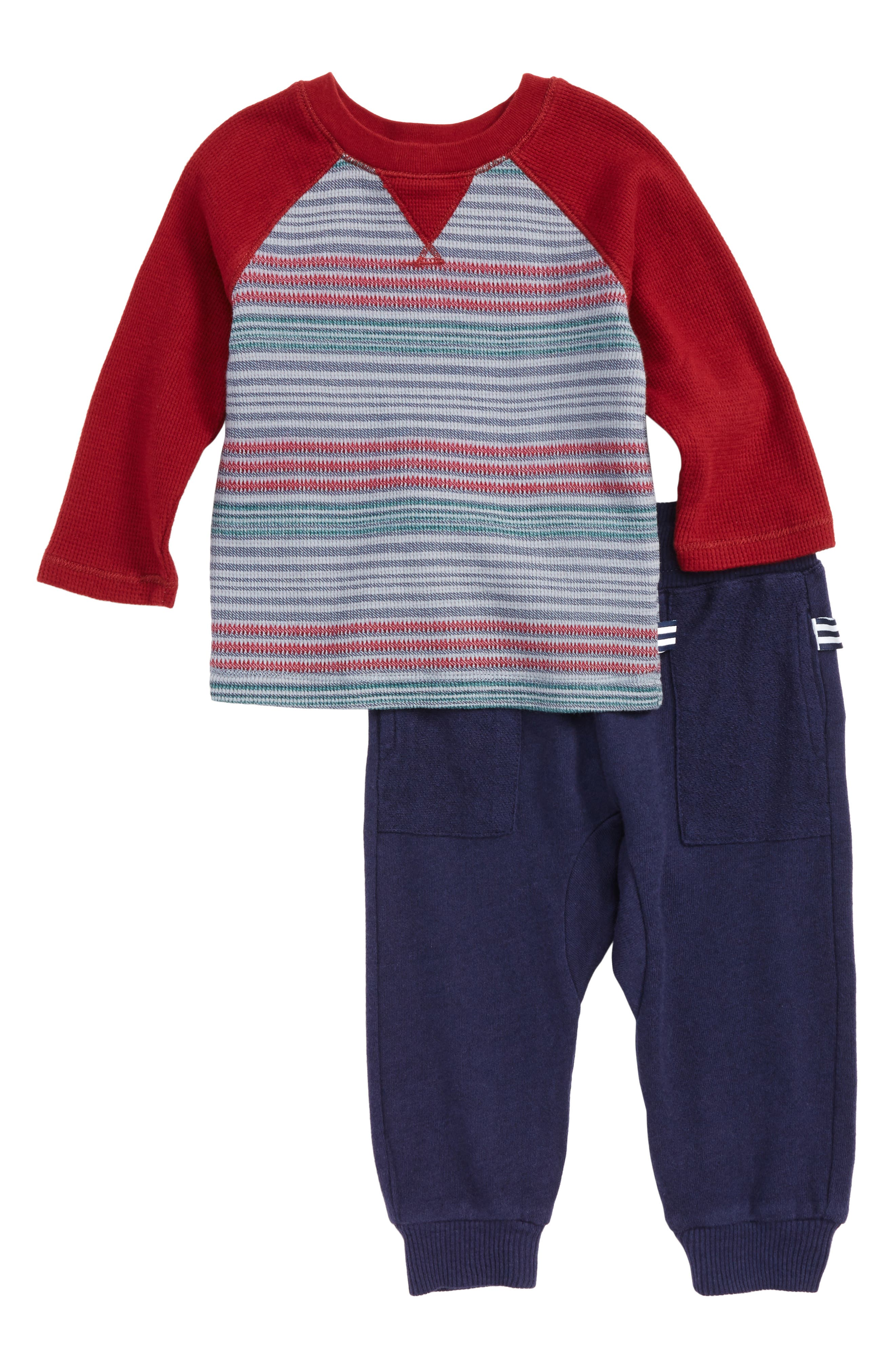 Splendid Stripe T-Shirt & Sweatpants Set (Baby Boys)