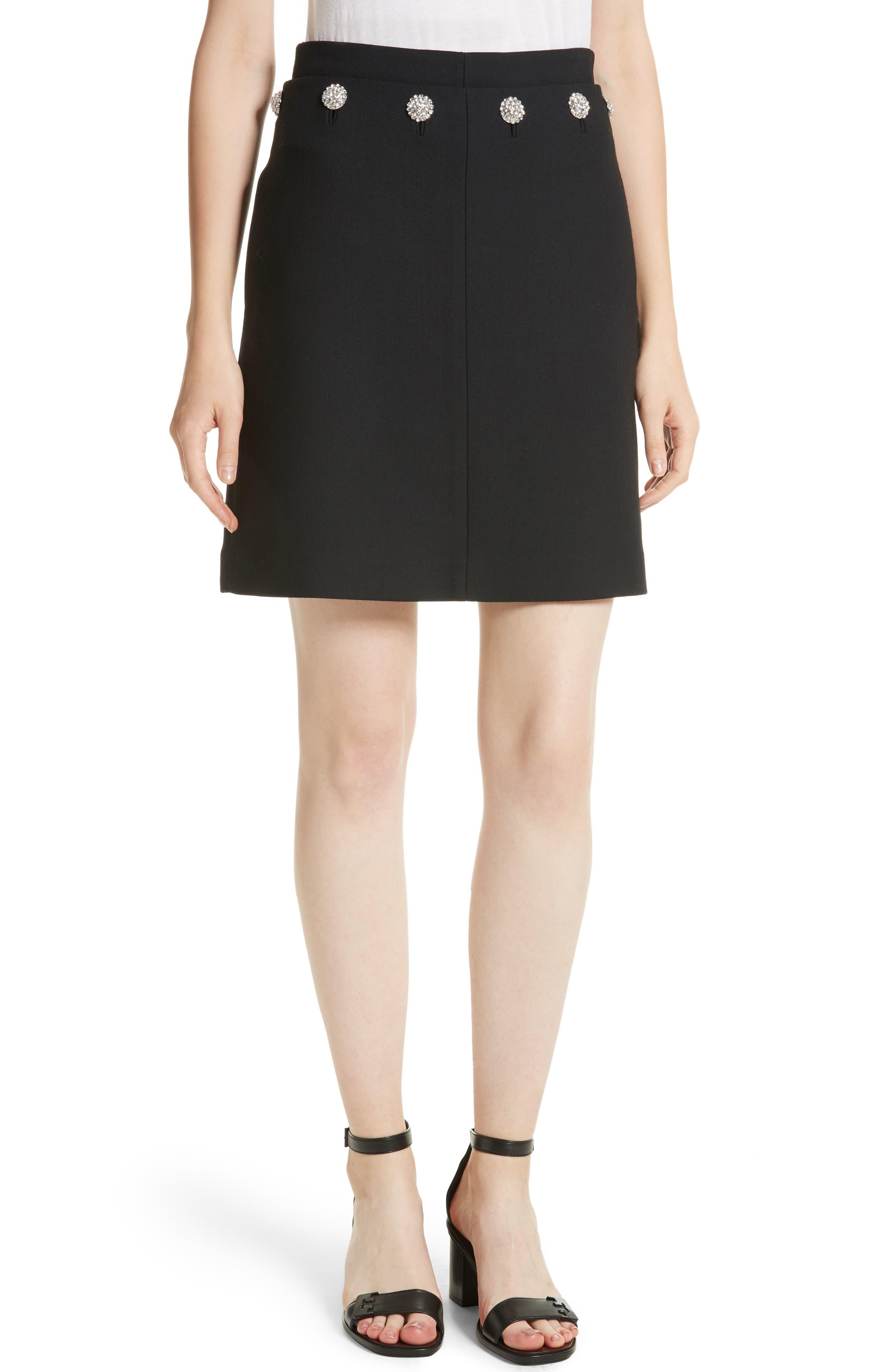 Tory Burch Fremont Embellished A-Line Skirt
