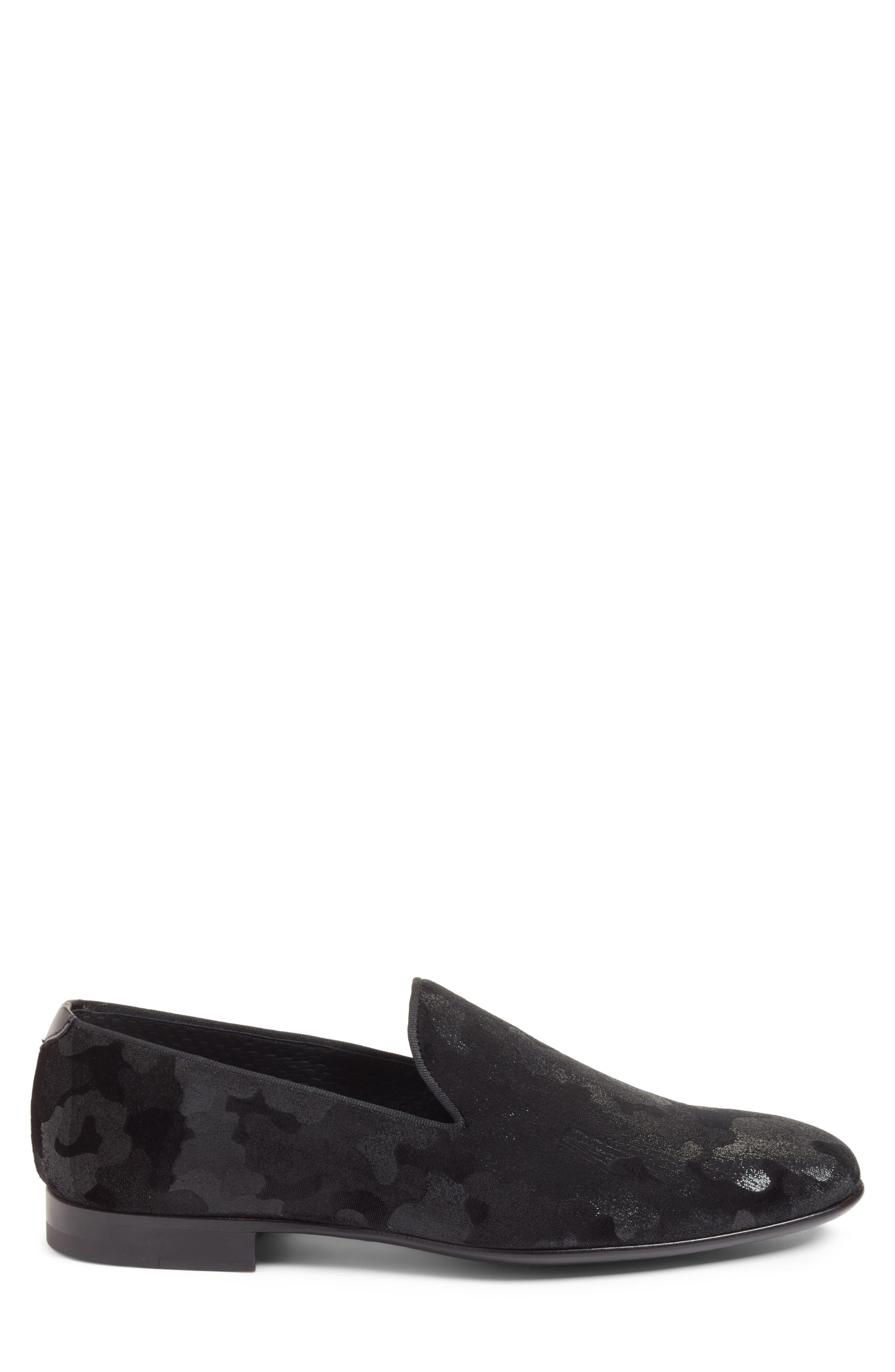 Delano Venetian Loafer,                             Alternate thumbnail 3, color,                             Black Camo
