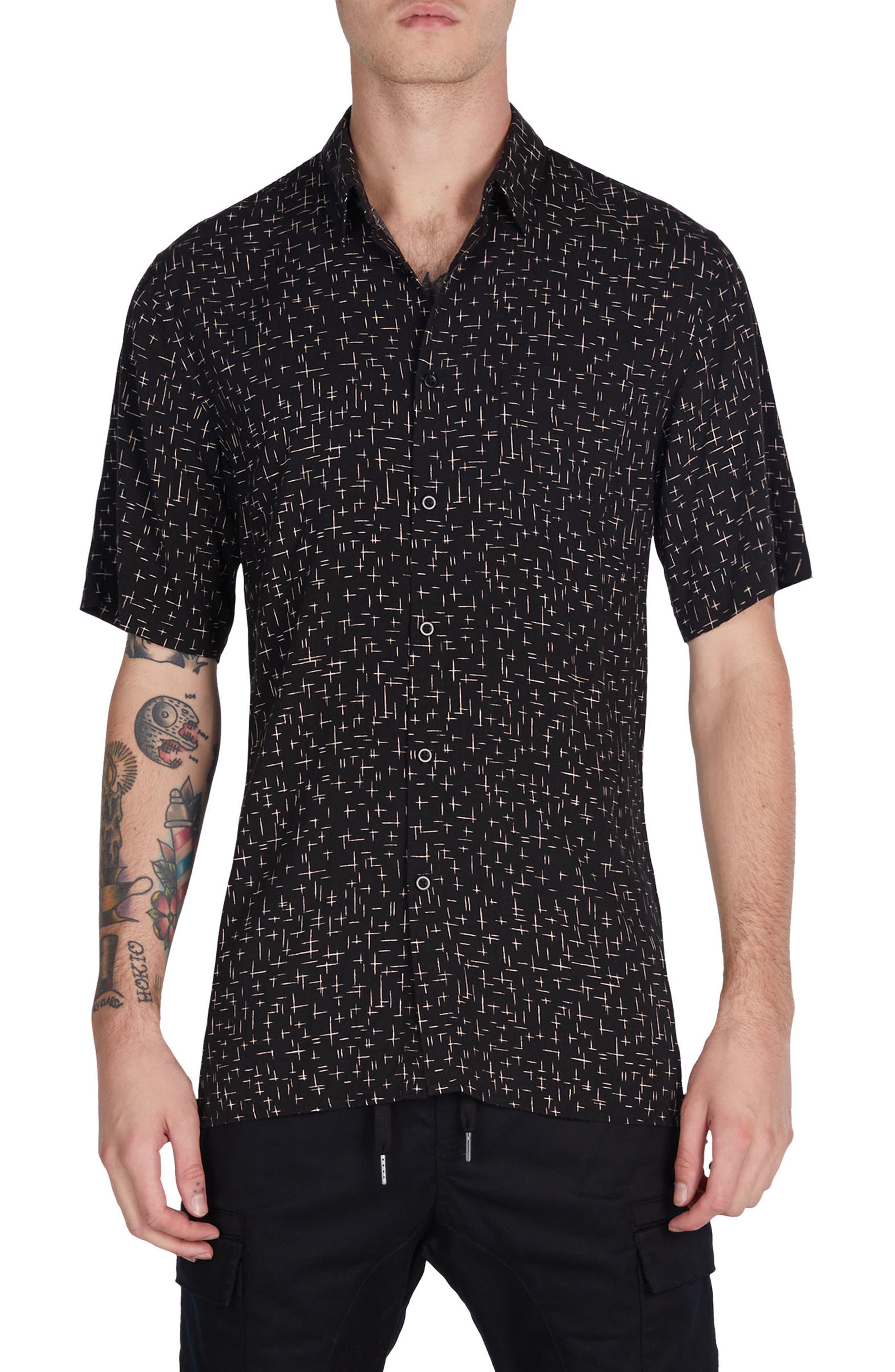 XCross Box Shirt,                             Main thumbnail 1, color,                             Black/ Quartz