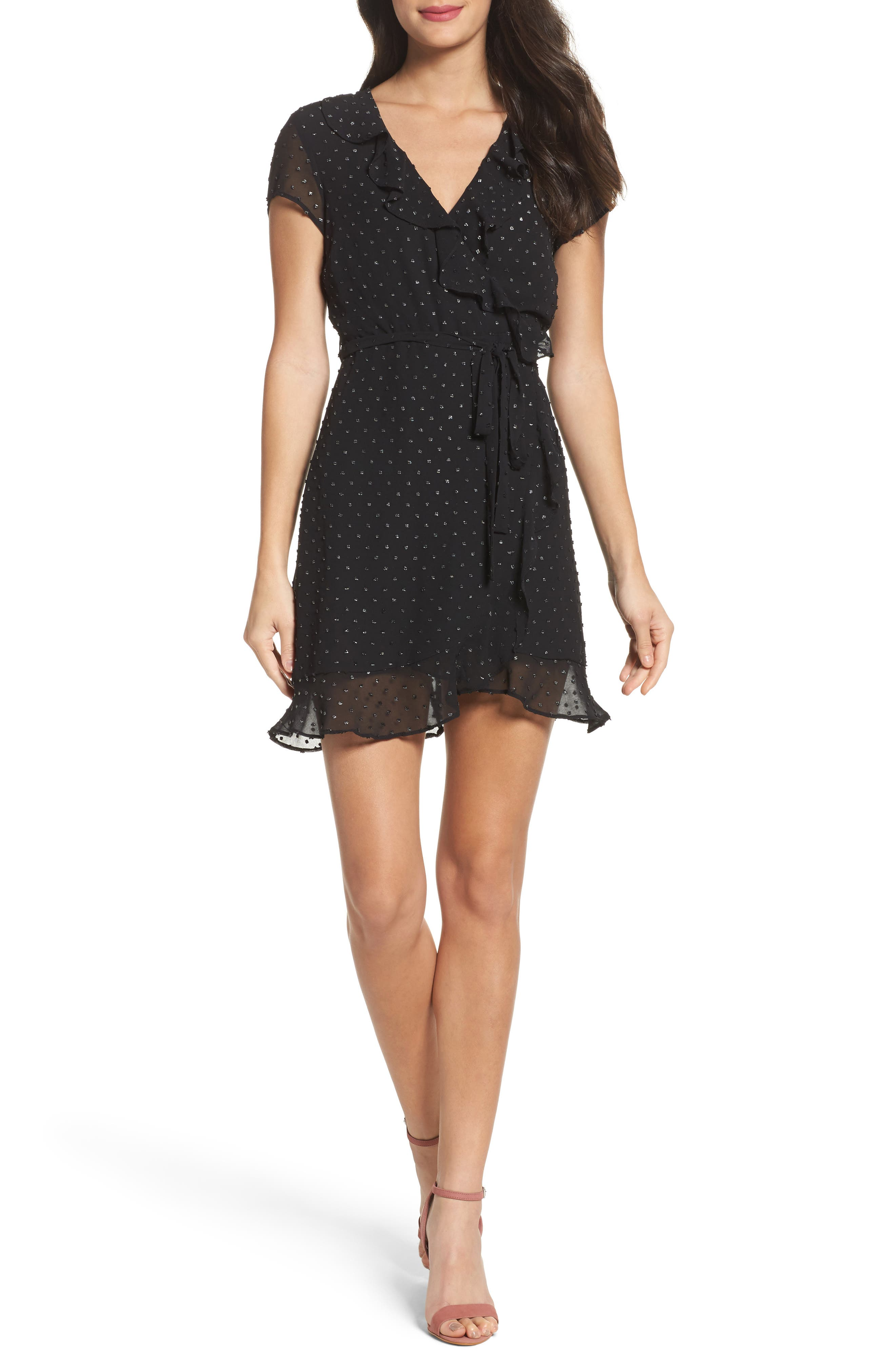 Main Image - Bardot Faux Wrap Minidress